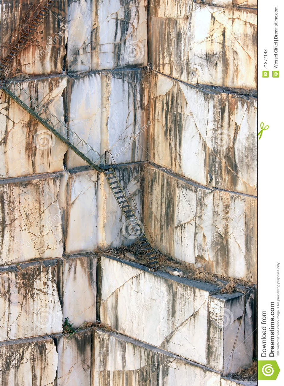 Stairs Against Marble Walls In Quarry Near Borba Stock