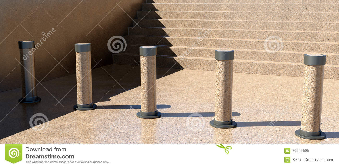 Stairs barrier stock illustration image