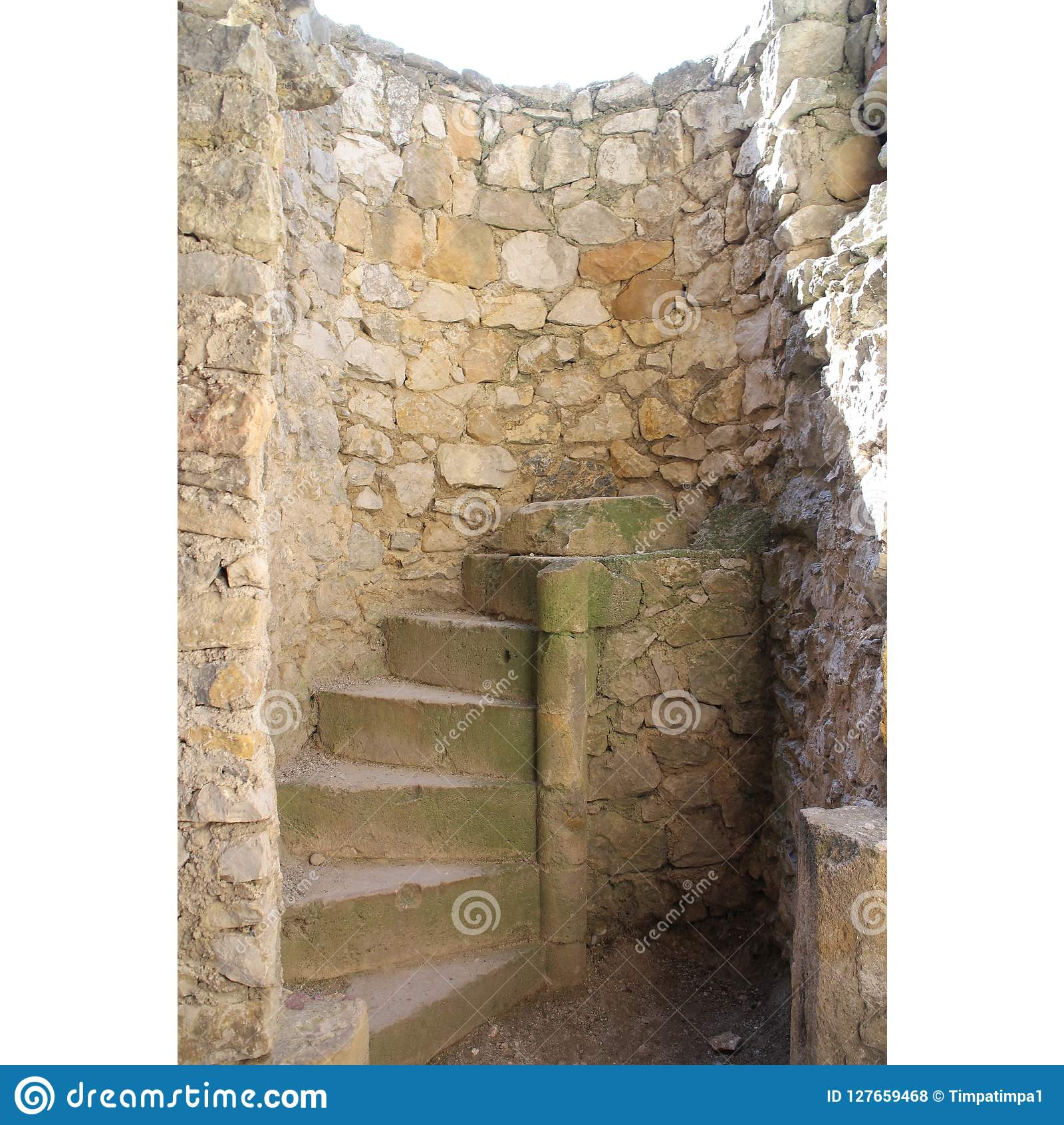 Stairs in Beckov castle