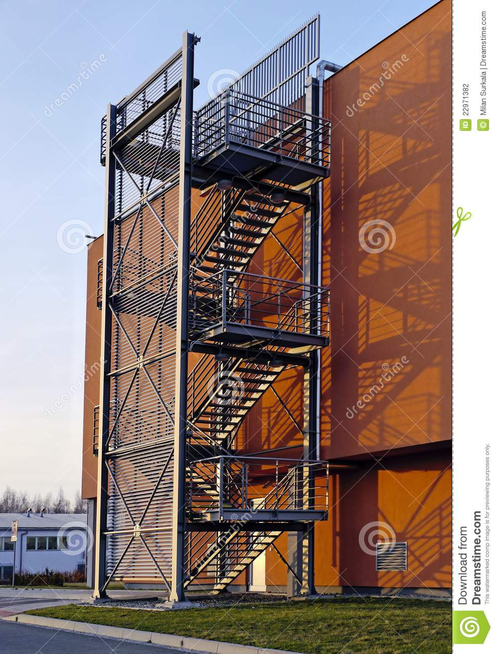 Stairs On A Commercial Building Stock Photography Image