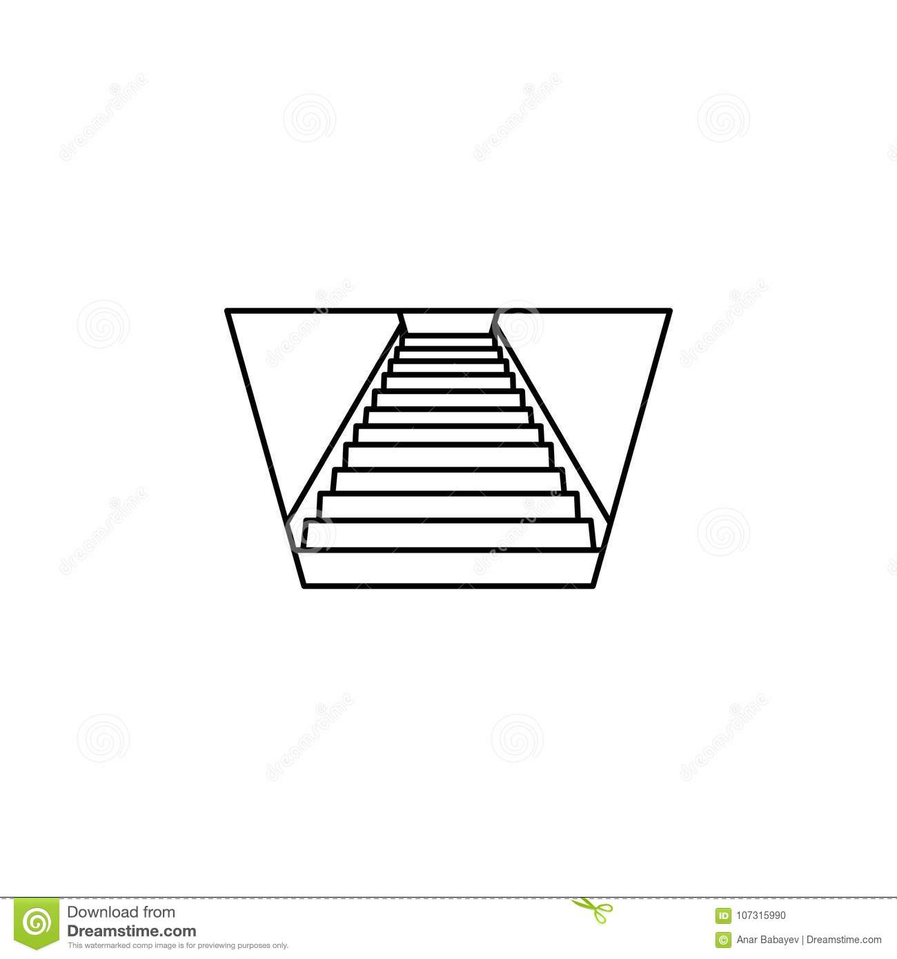 Stairs Down Icon Stairs In Our Life Icon Premium Quality Graphic