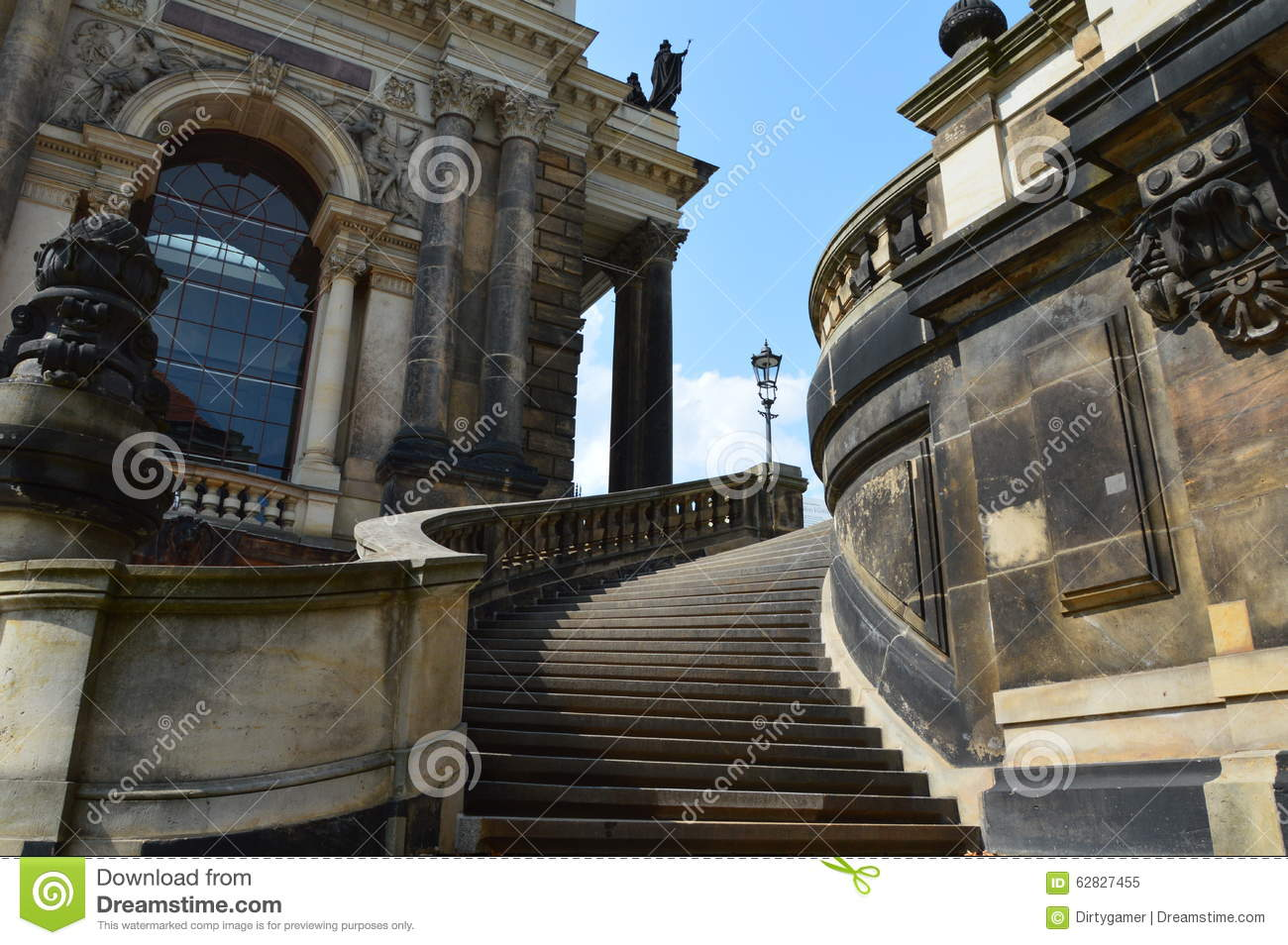Stairs Of Dresden Gallery Stock Photo Image 62827455