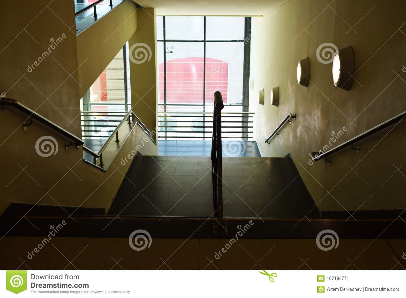 Stairs Indoors In The House View From Above Stock Image Image Of