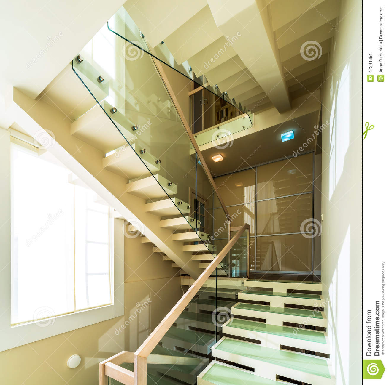 Stairs In Modern Home Interior Stock Photo Cartoondealer