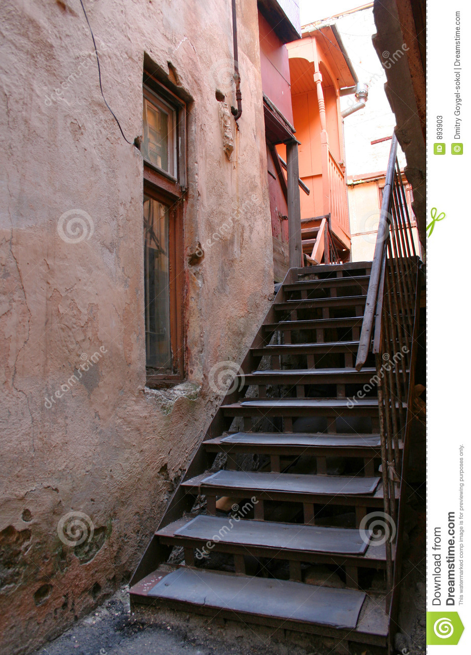 Stairs of old city