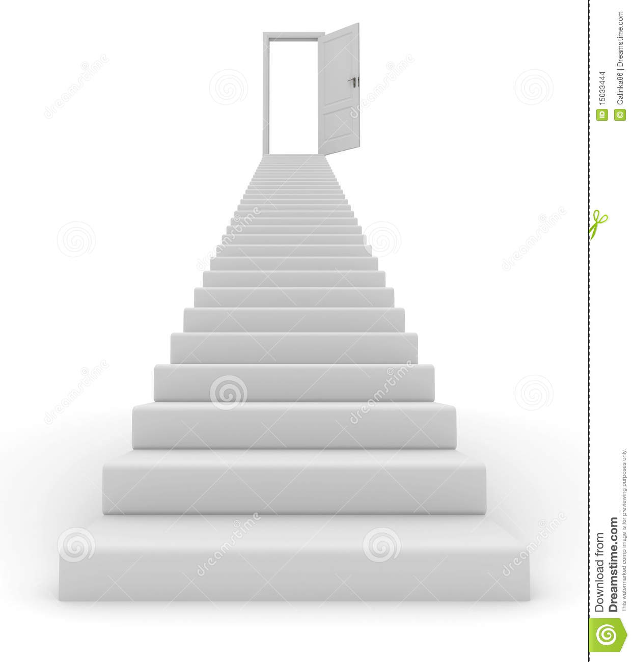 Stairs and open door stock illustration. Image of staircase - 15033444
