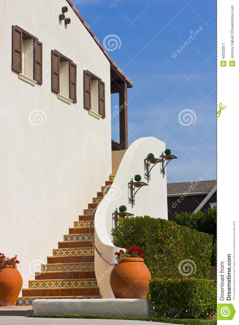 Stairs Outside House Stock Photo Image 40032817