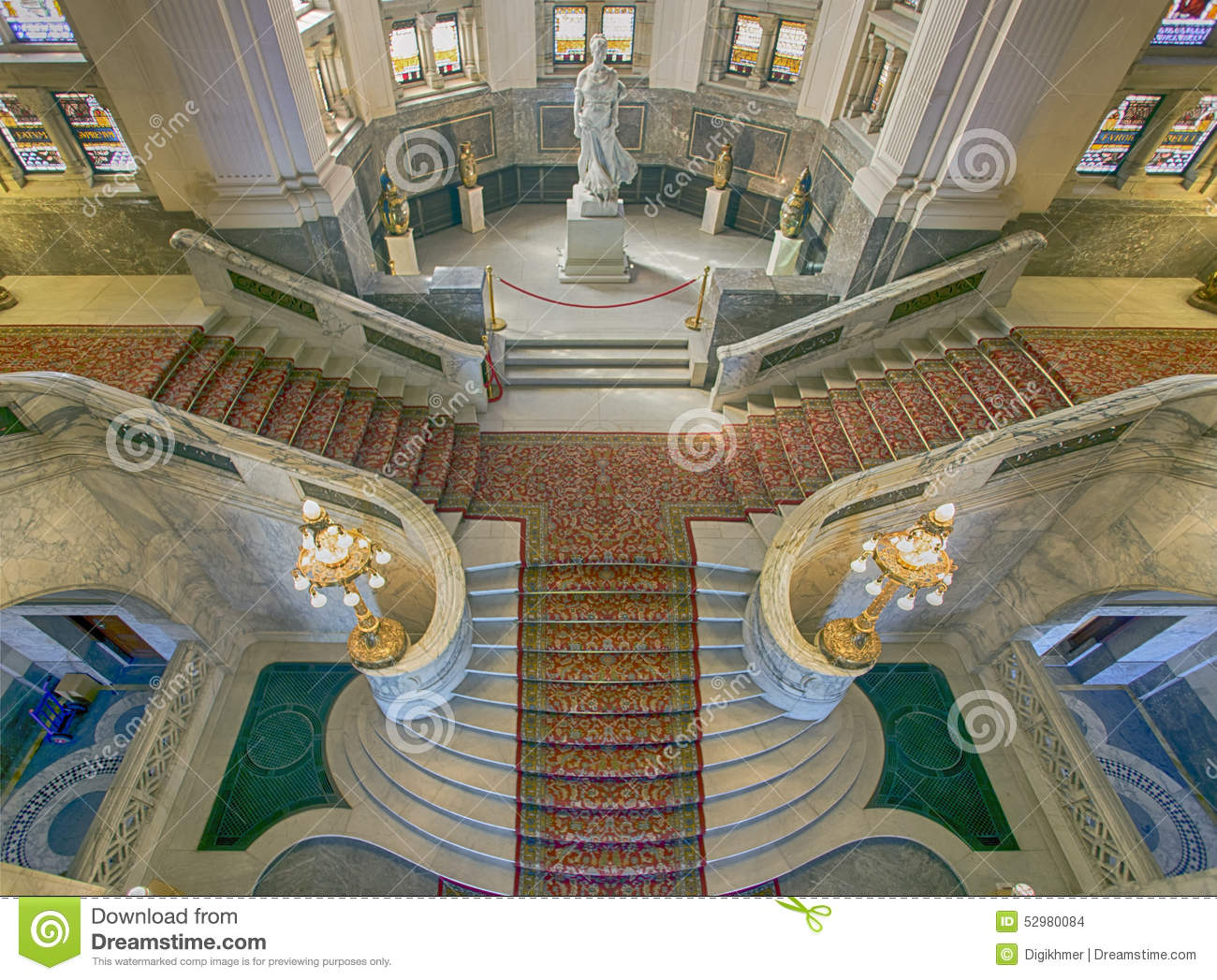 Stupendous Stairs Of The Peace Palace Stock Photo Image Of Complex Interior Design Ideas Tzicisoteloinfo