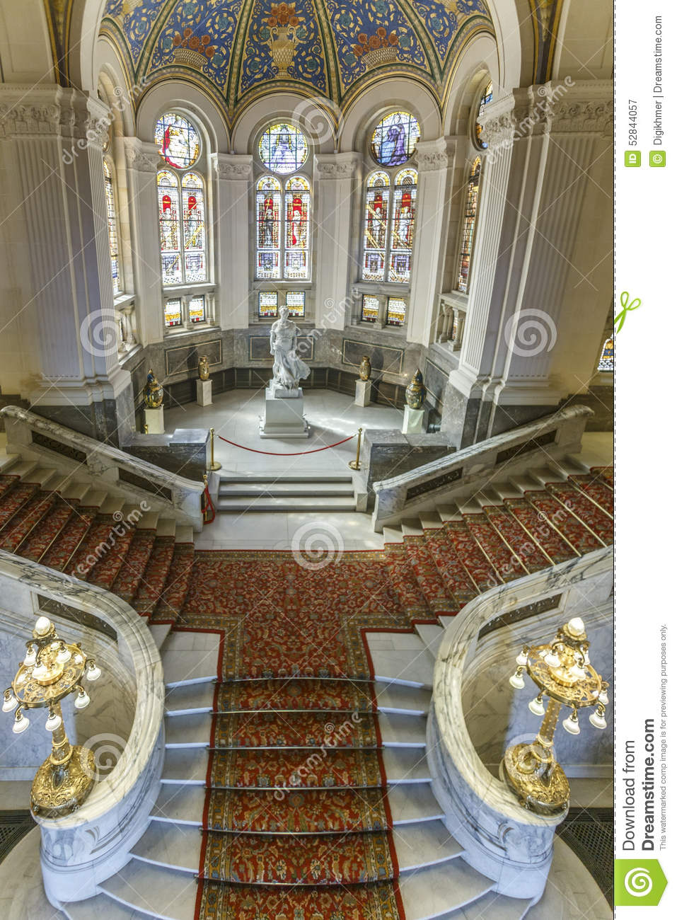 Marvelous Stairs Of The Peace Palace Stock Image Image Of Interior Design Ideas Tzicisoteloinfo
