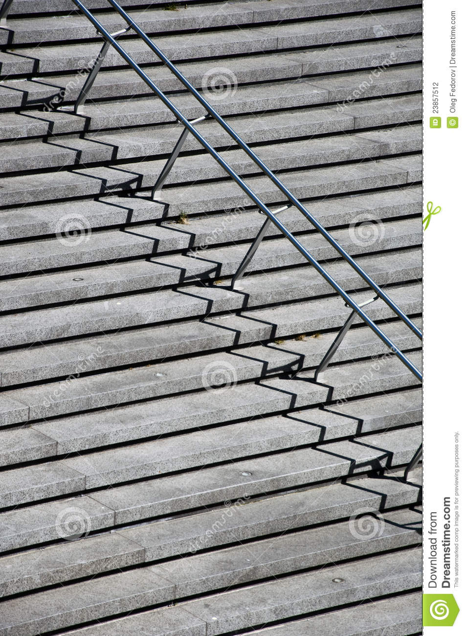 stairs with stainless steel handrails stock photo