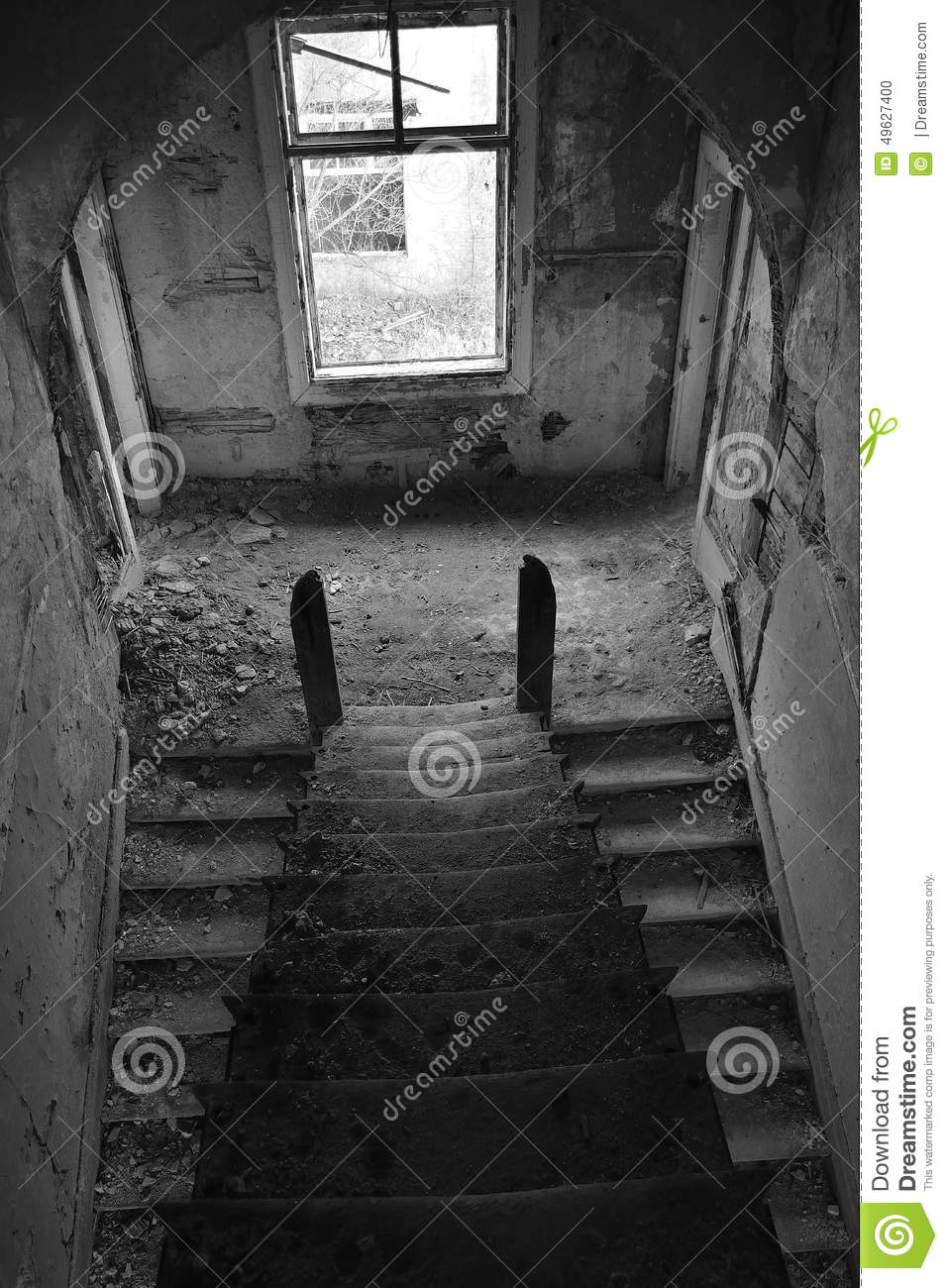 Stairs. Staircase Old. Stock Photo - Image: 49627400