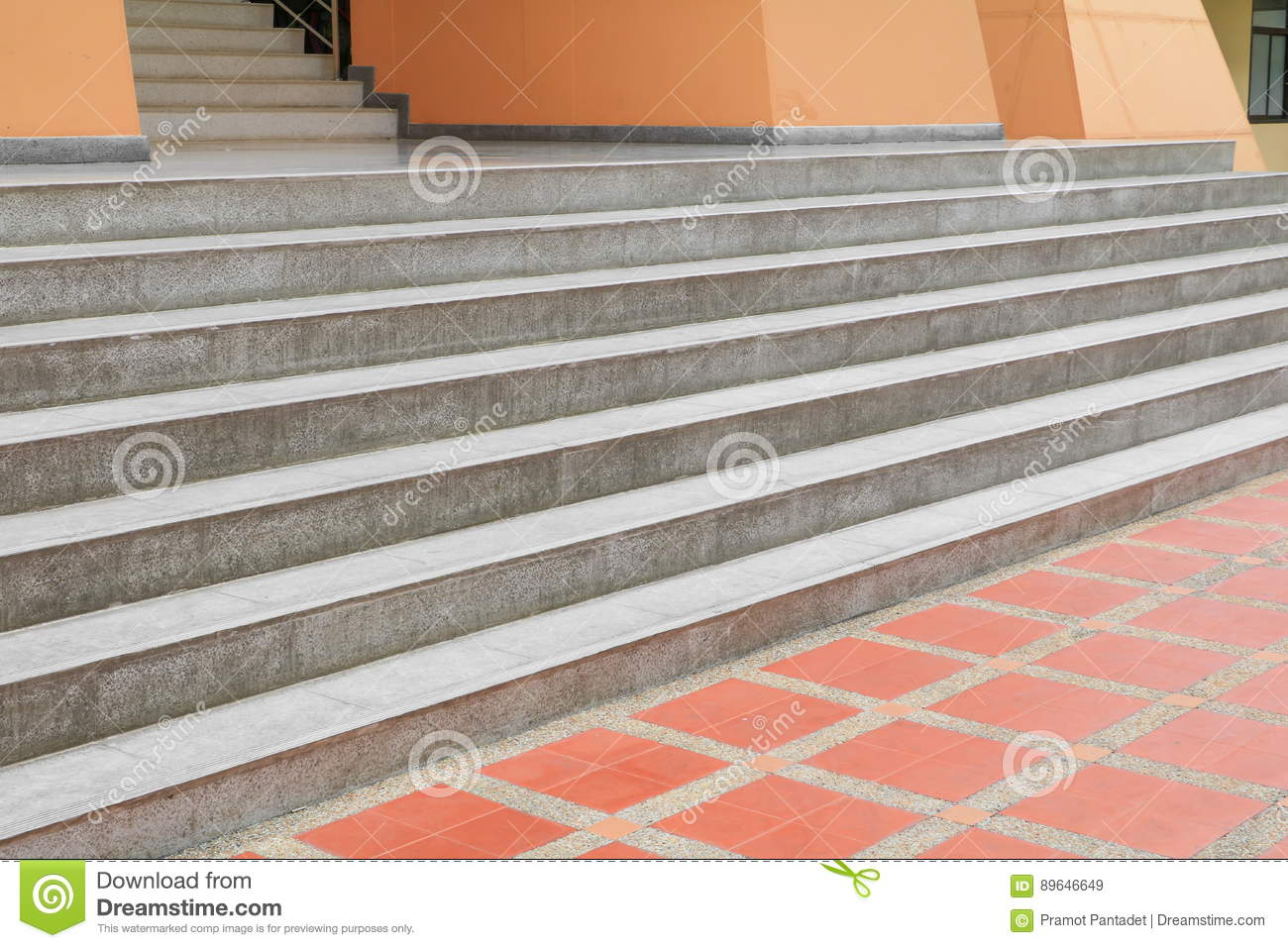 Stairs Stone Terrazzo Marble Floor Outdoors Building Stock