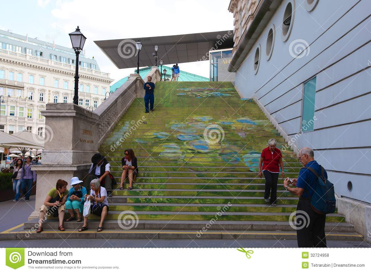 Stairs To Academy Of Fine Arts In Vienna Editorial Stock Photo