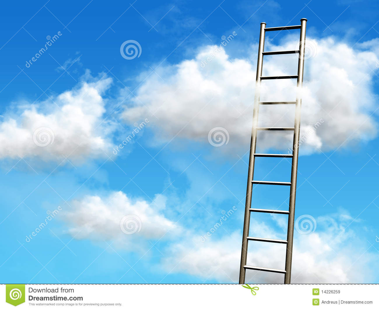 Reach For Clouds >> Stairs To The Clouds Stock Illustration Illustration Of Design