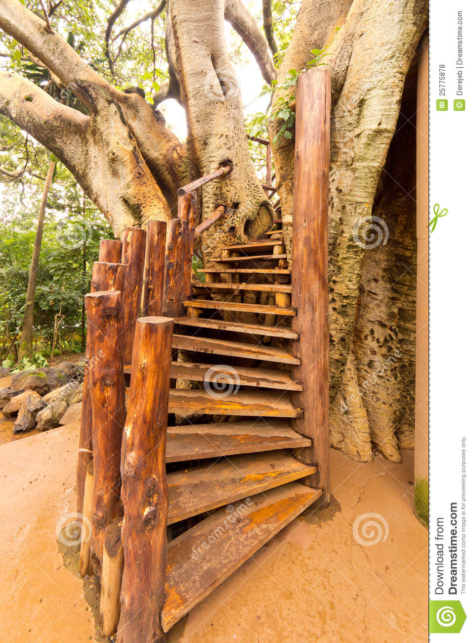 Stairs To The Tree House Royalty Free Stock Photos Image