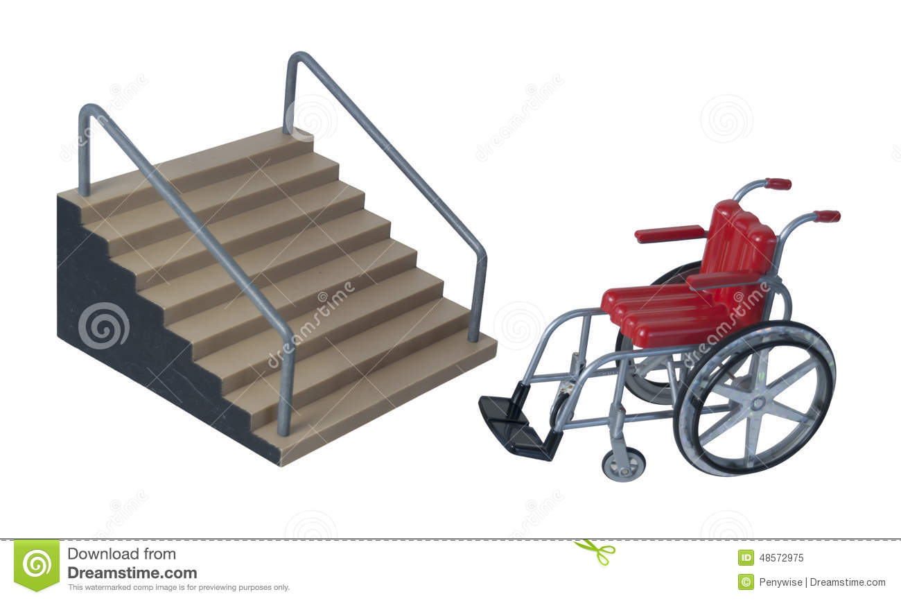 Stairs and wheelchair stock image image of down stairs for Handicap stairs plans