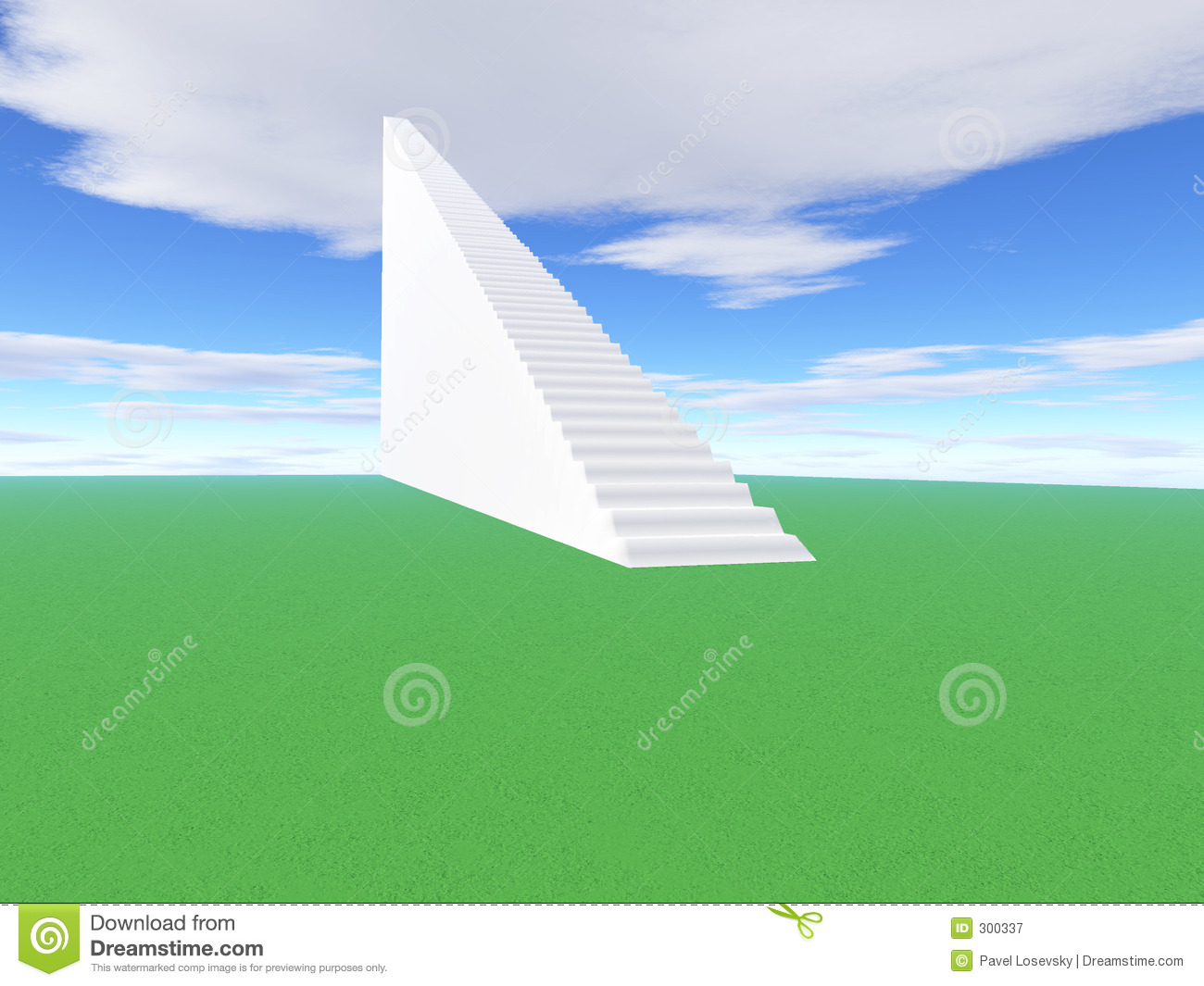 Stairway to go up to success