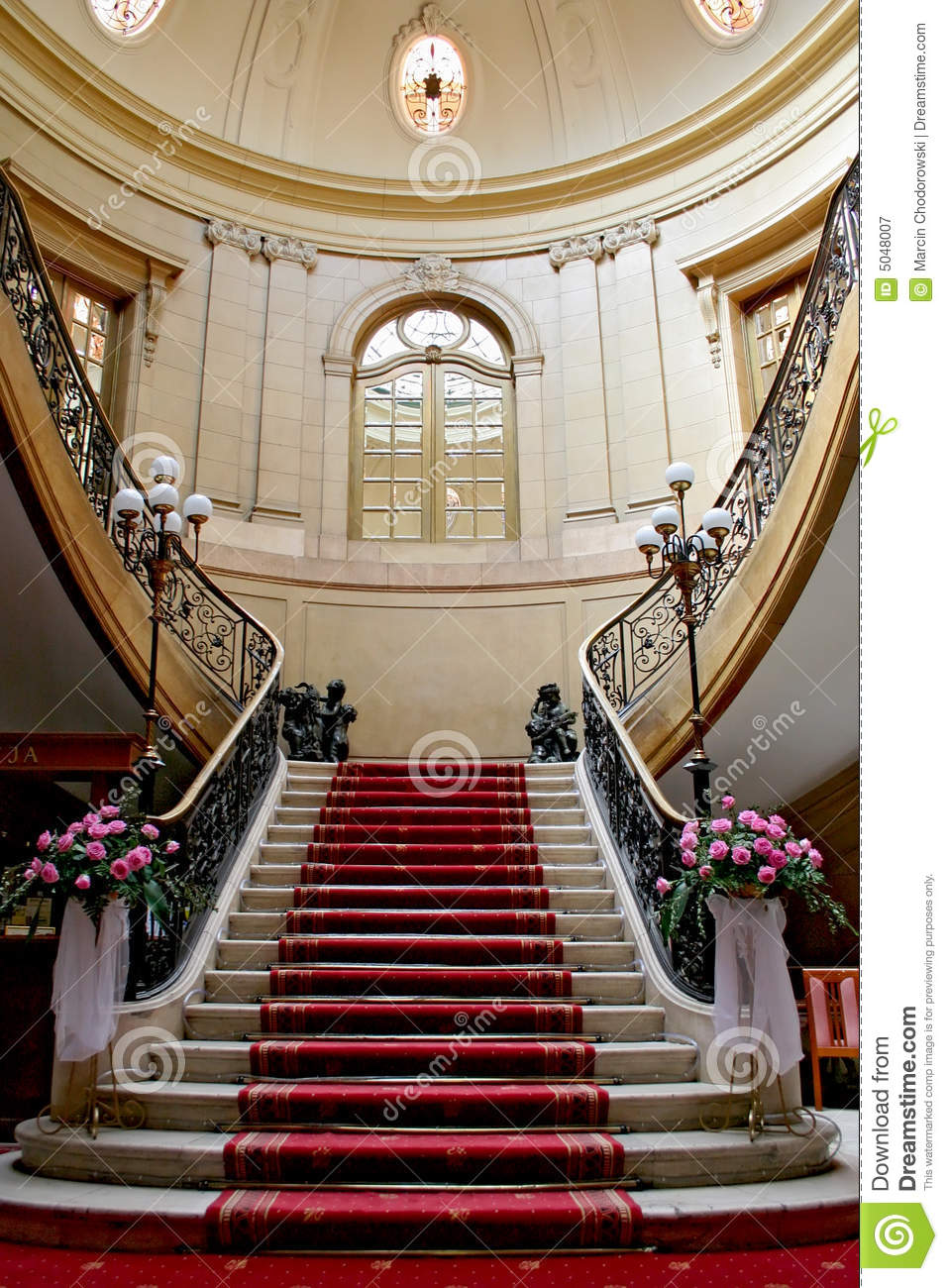 Stairwell in palace.