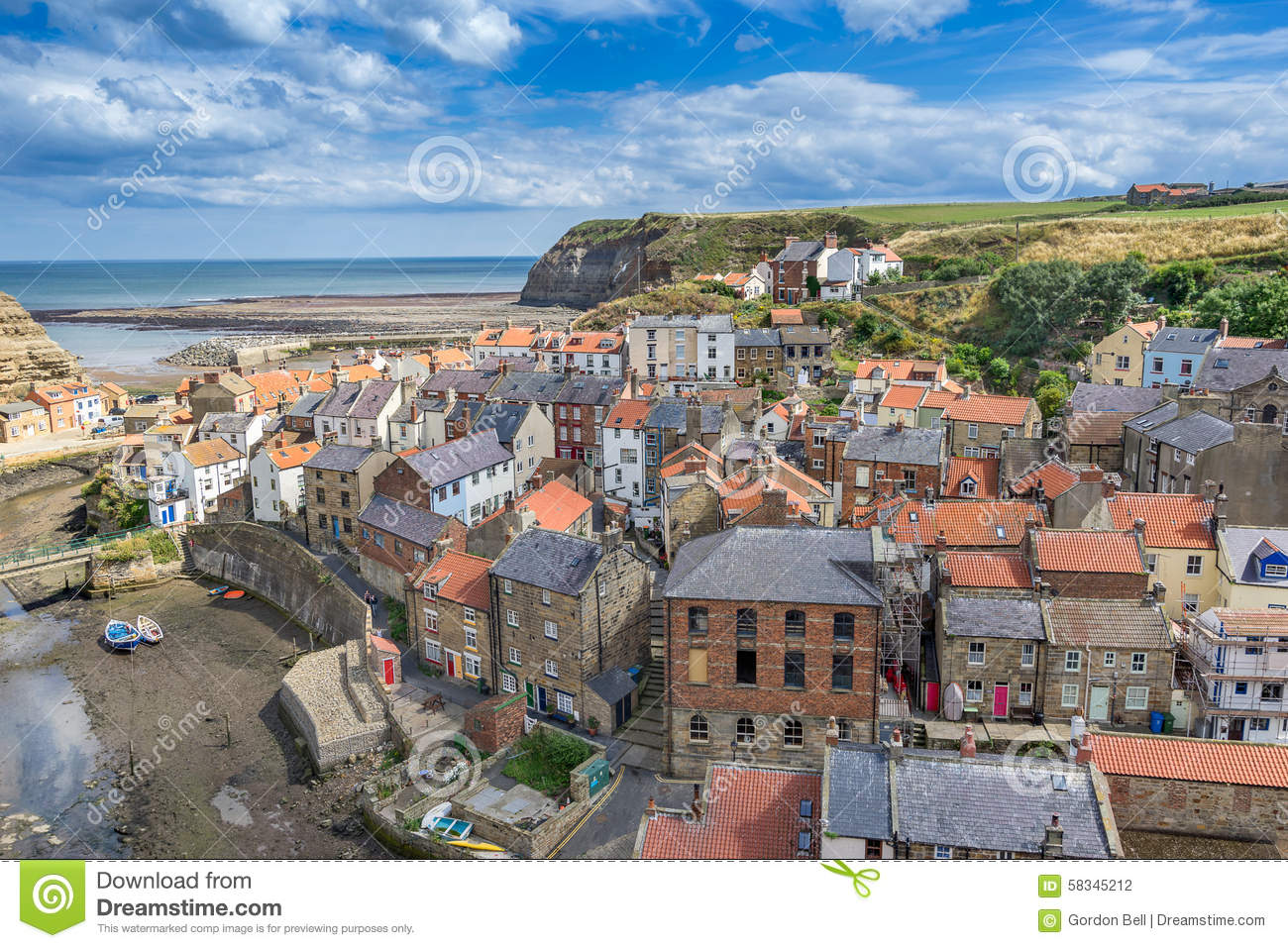 Staithes Dans Yorkshire Angleterre Photo stock - Image du