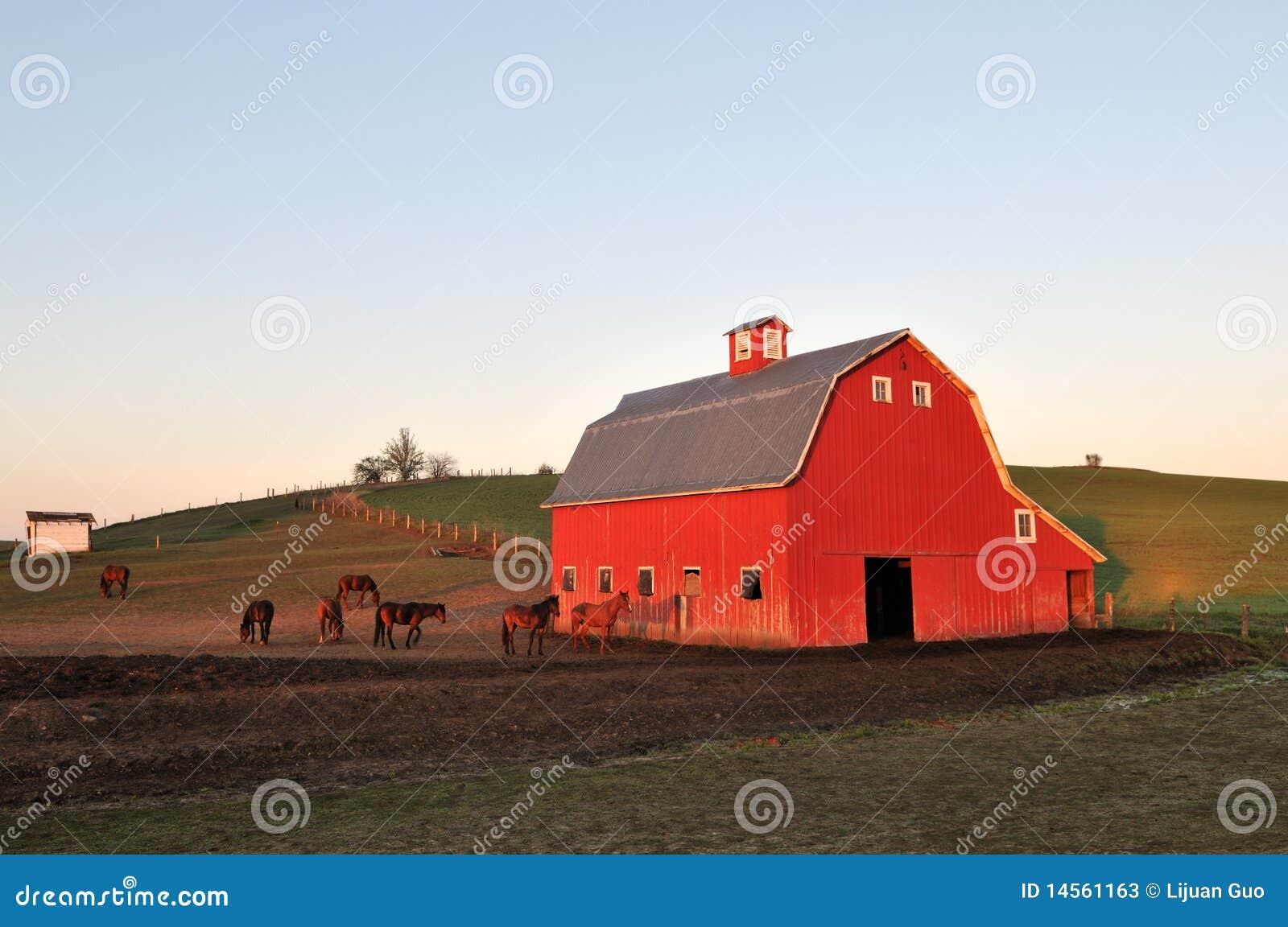 Stajni lanscape palouse czerwień wiejska