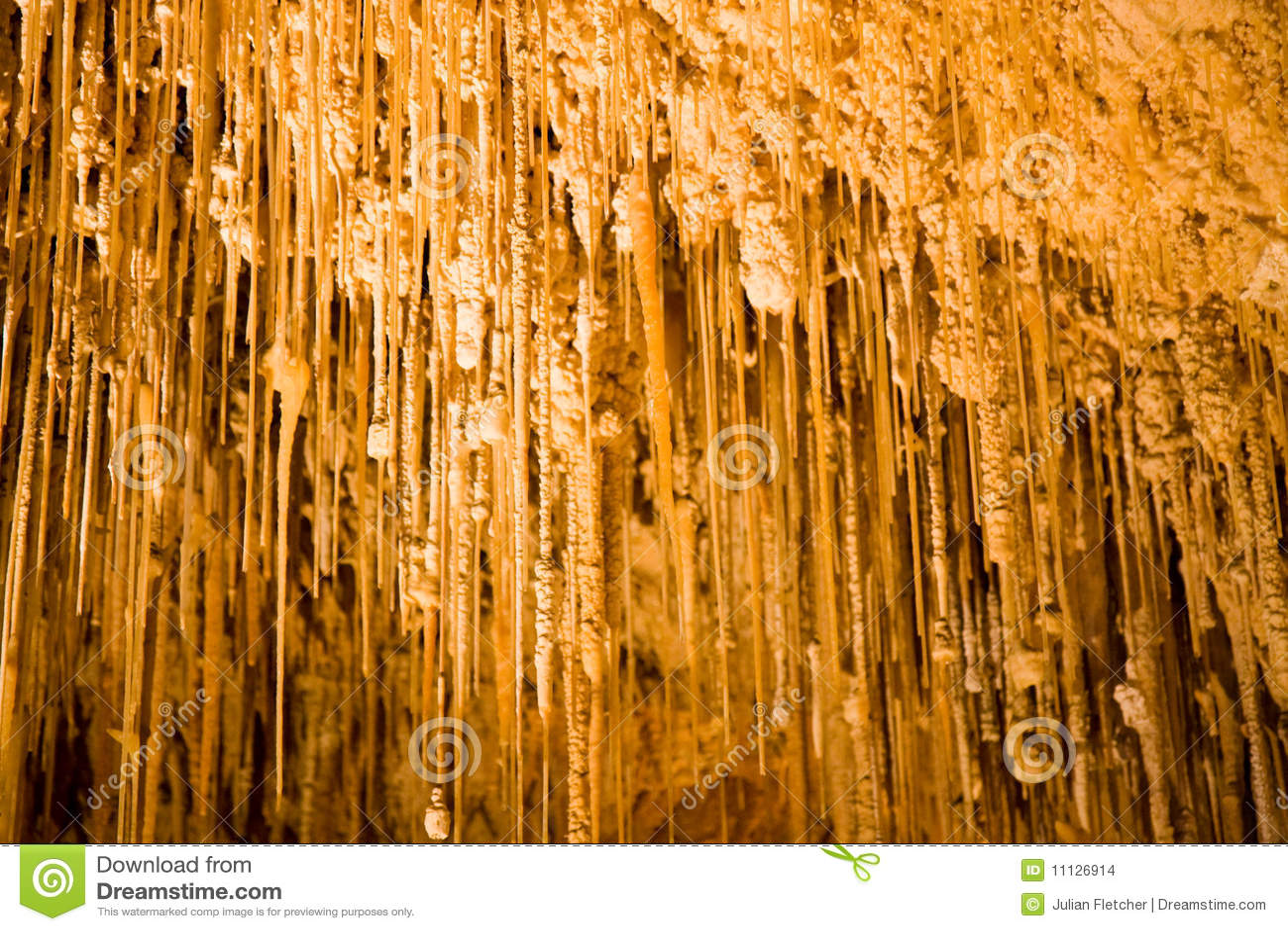 Stalactites and stalagmites in Bermuda