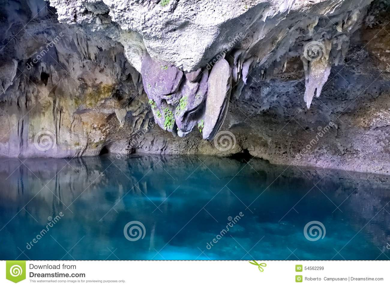 """Stalactites in the """"Three Eyes"""" Cave"""