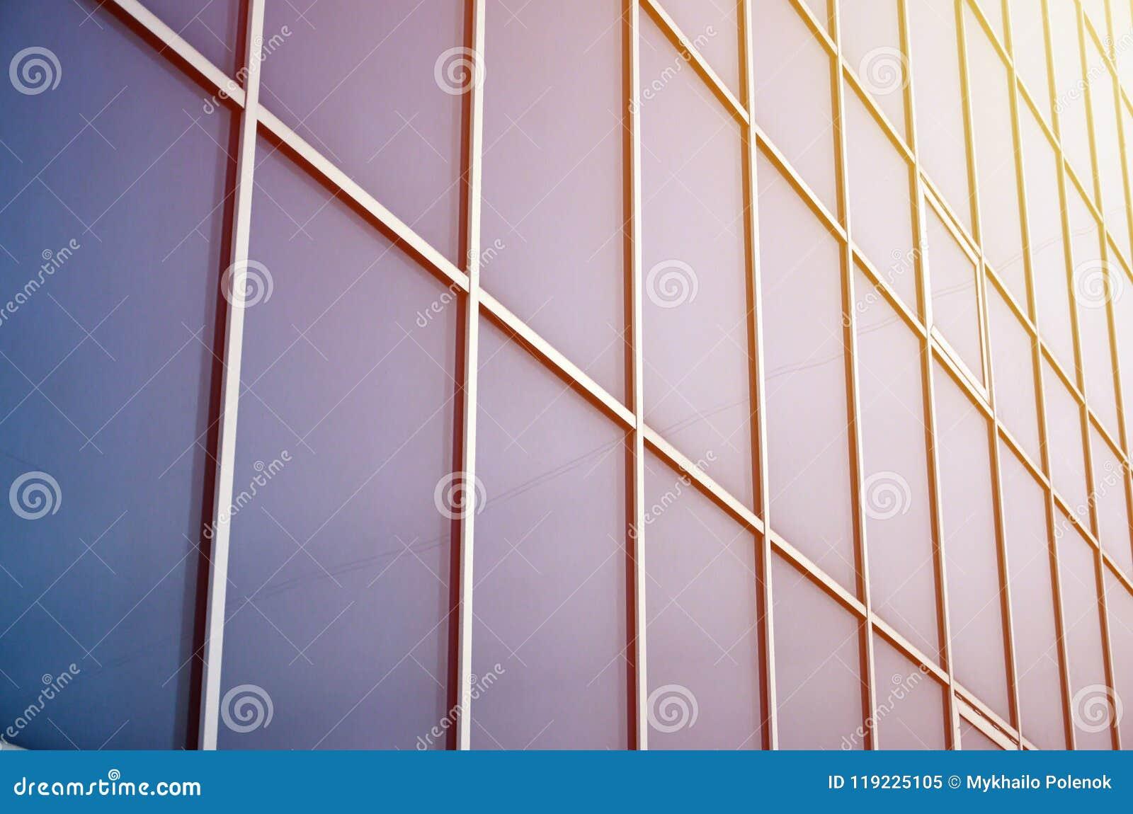 Stali błękitni okno budynek biurowy Szklana ściana