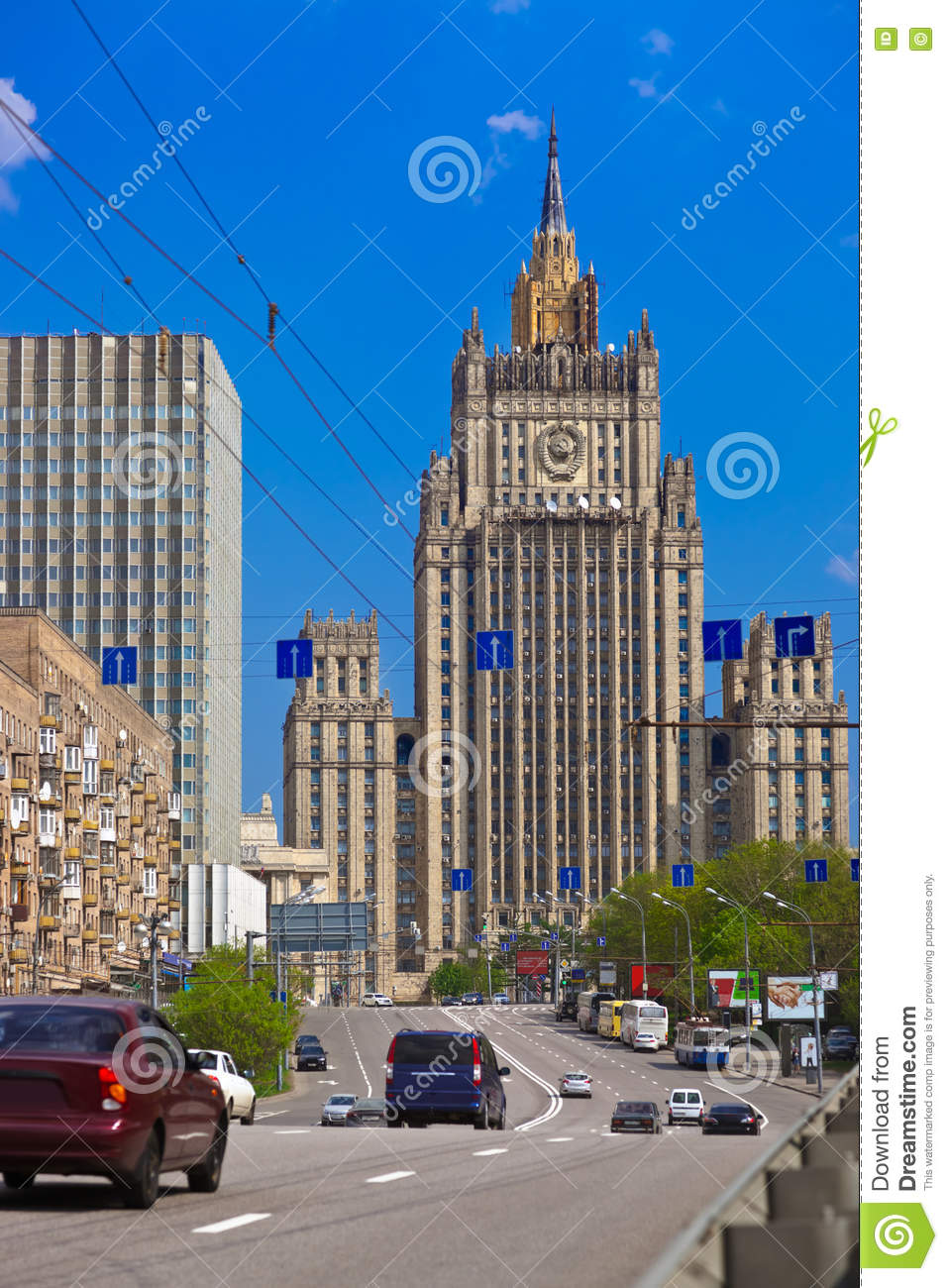 Stalin s famous skyscraper Ministry of Foreign Affairs of Russia
