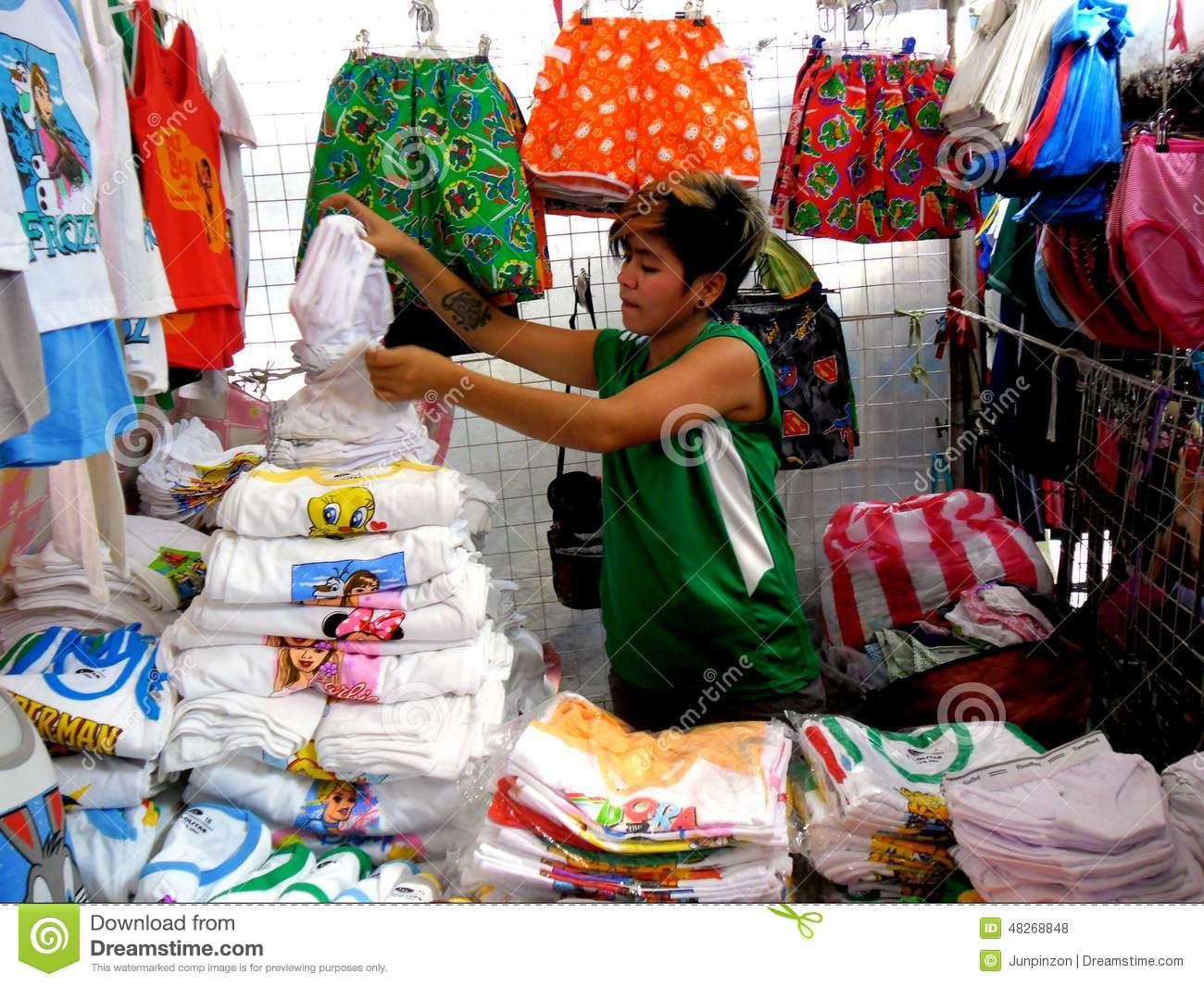 Stall Owner Selling Clothes In Taytay, Rizal, Philippines ...