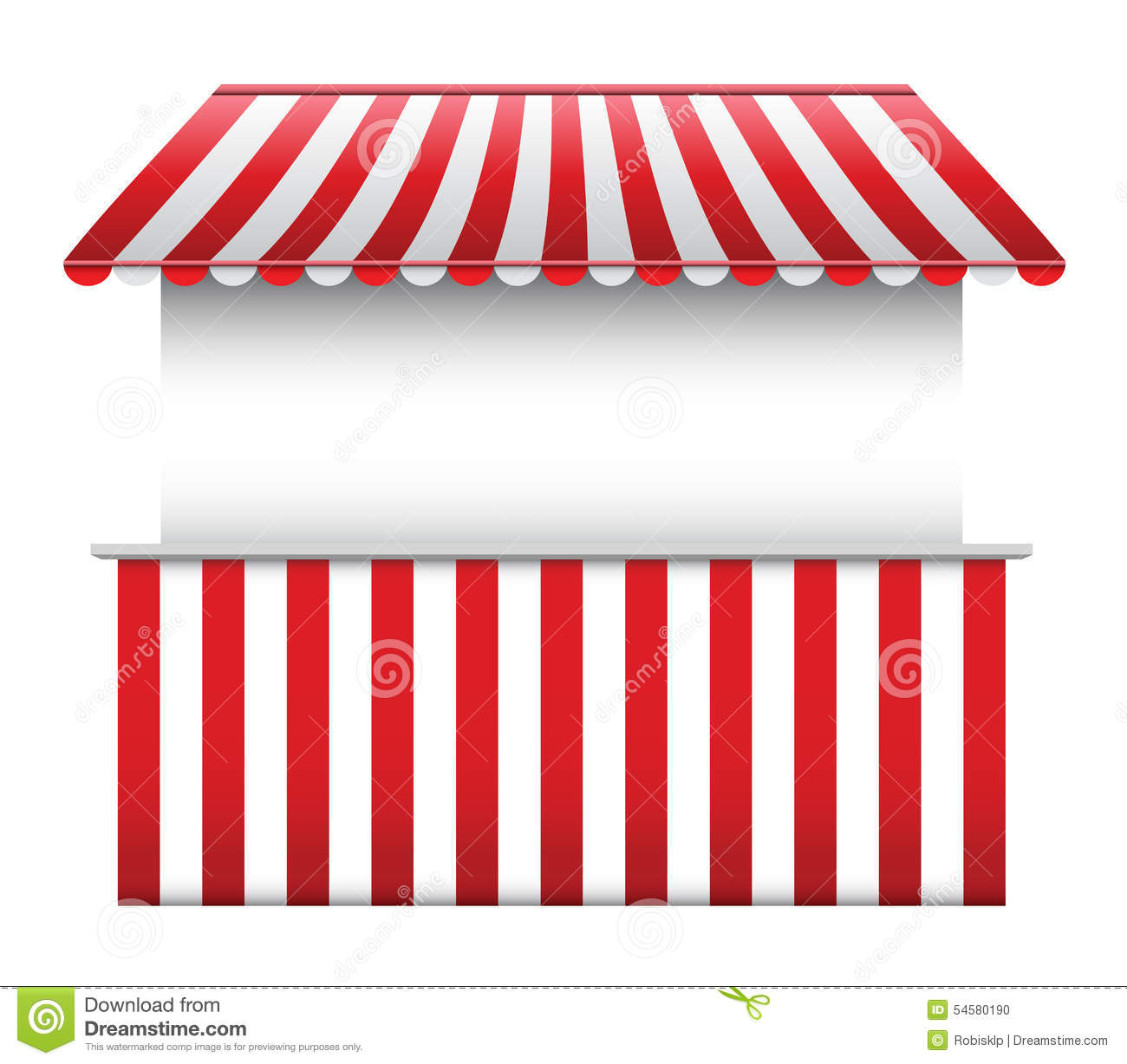 Stall With Striped Awning Stock Vector Image 54580190