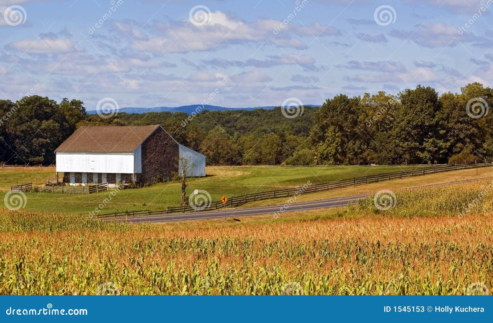 Gettysburg (PA) United States  City pictures : Gettysburg PA Stall und Maisfelder entlang Straße.