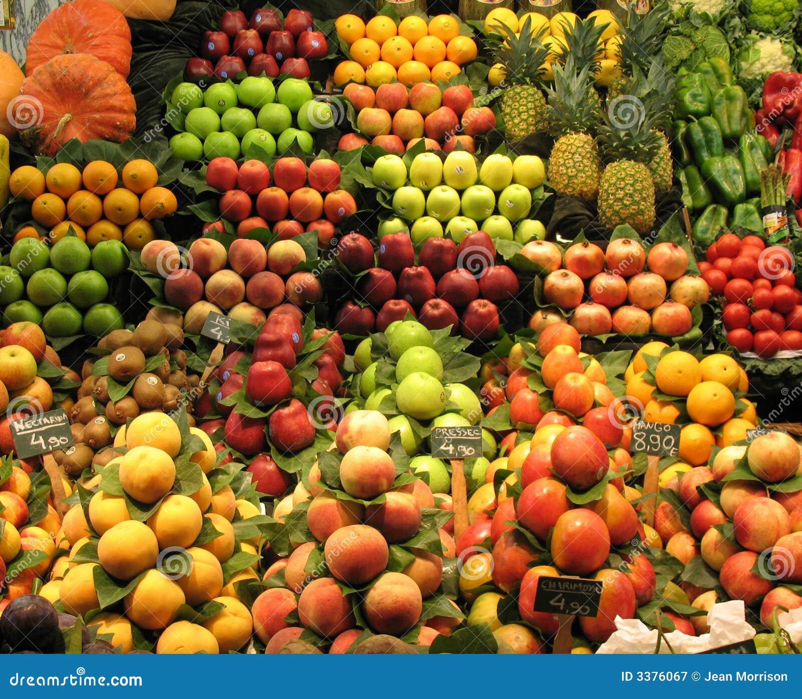 Stalla della verdura e della frutta