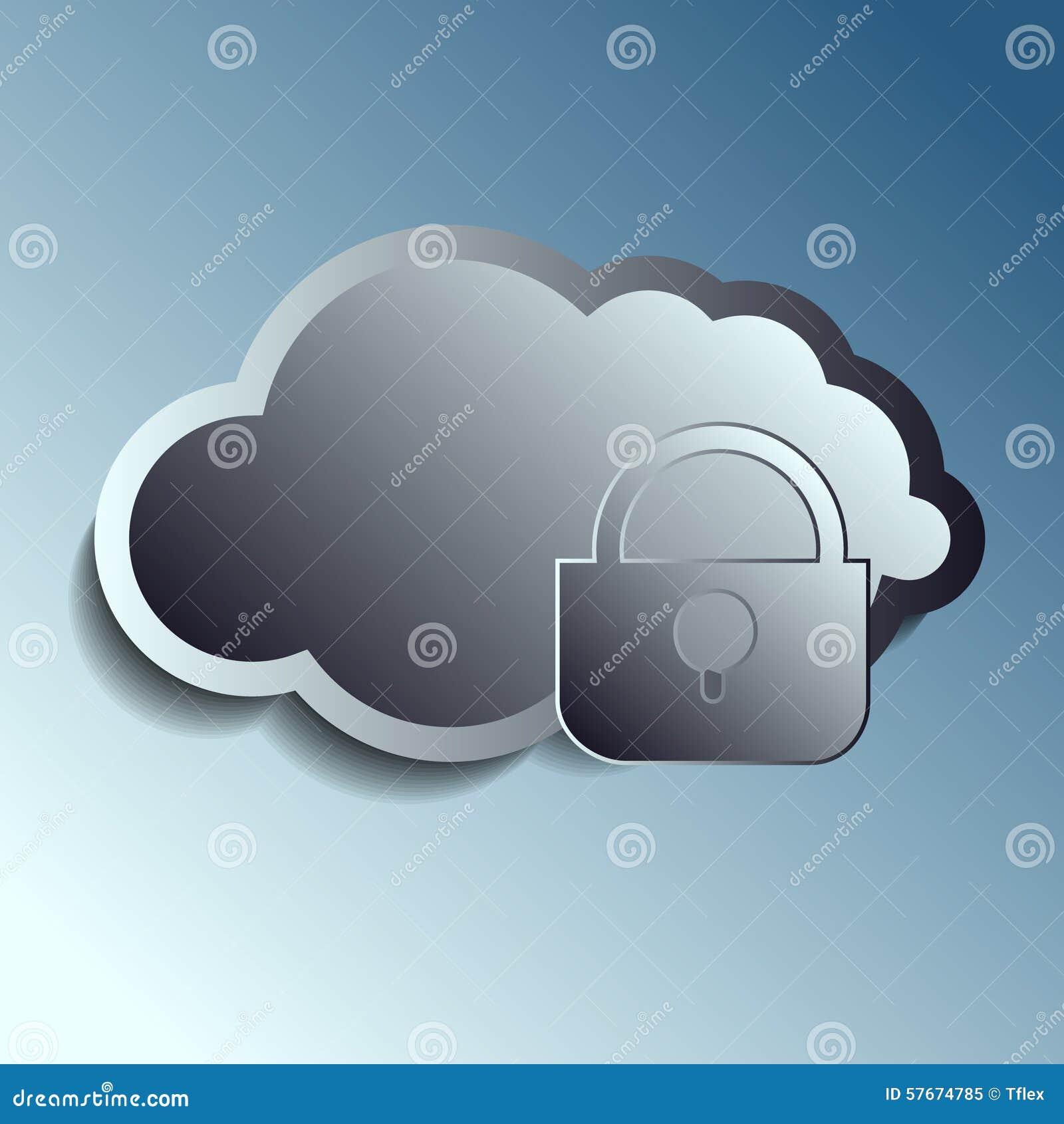 Stalowe 3d wektoru chmury Securety