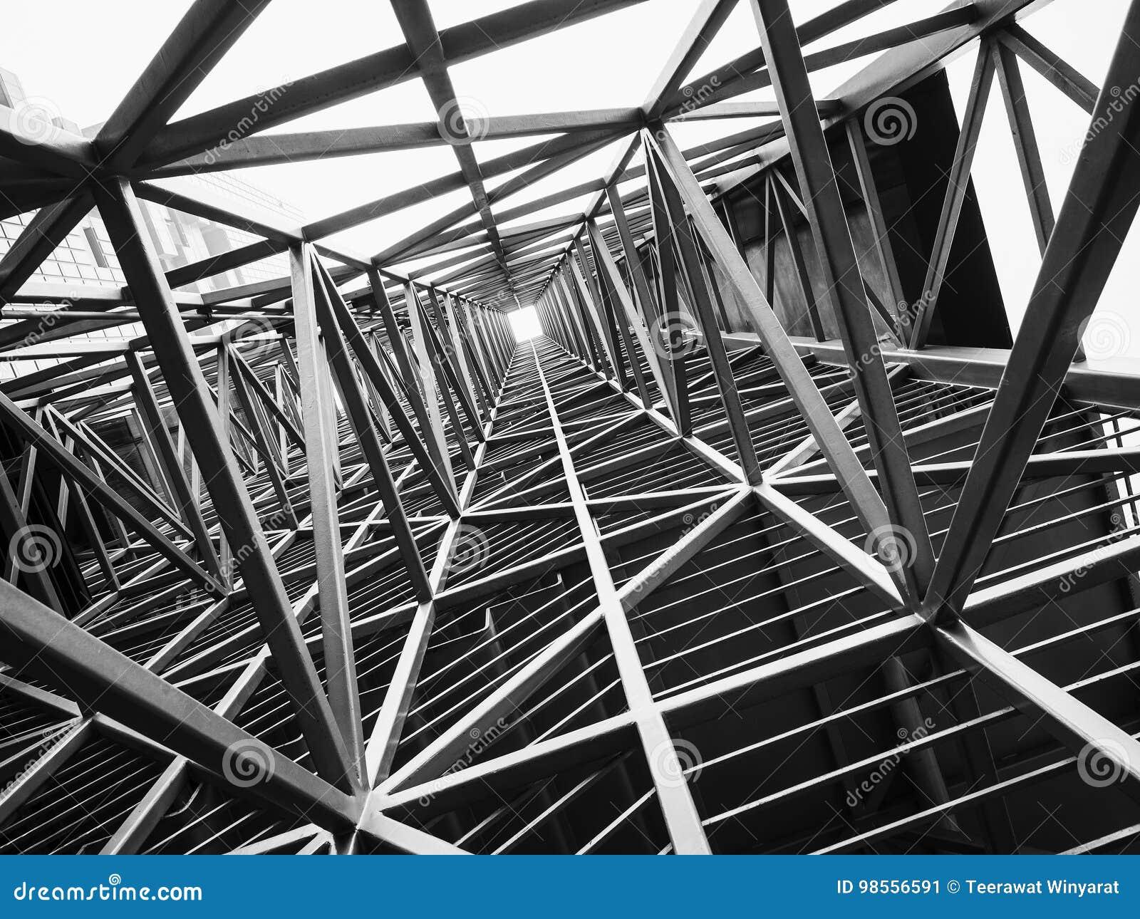 Stalowej struktury architektury budowy abstrakta tło