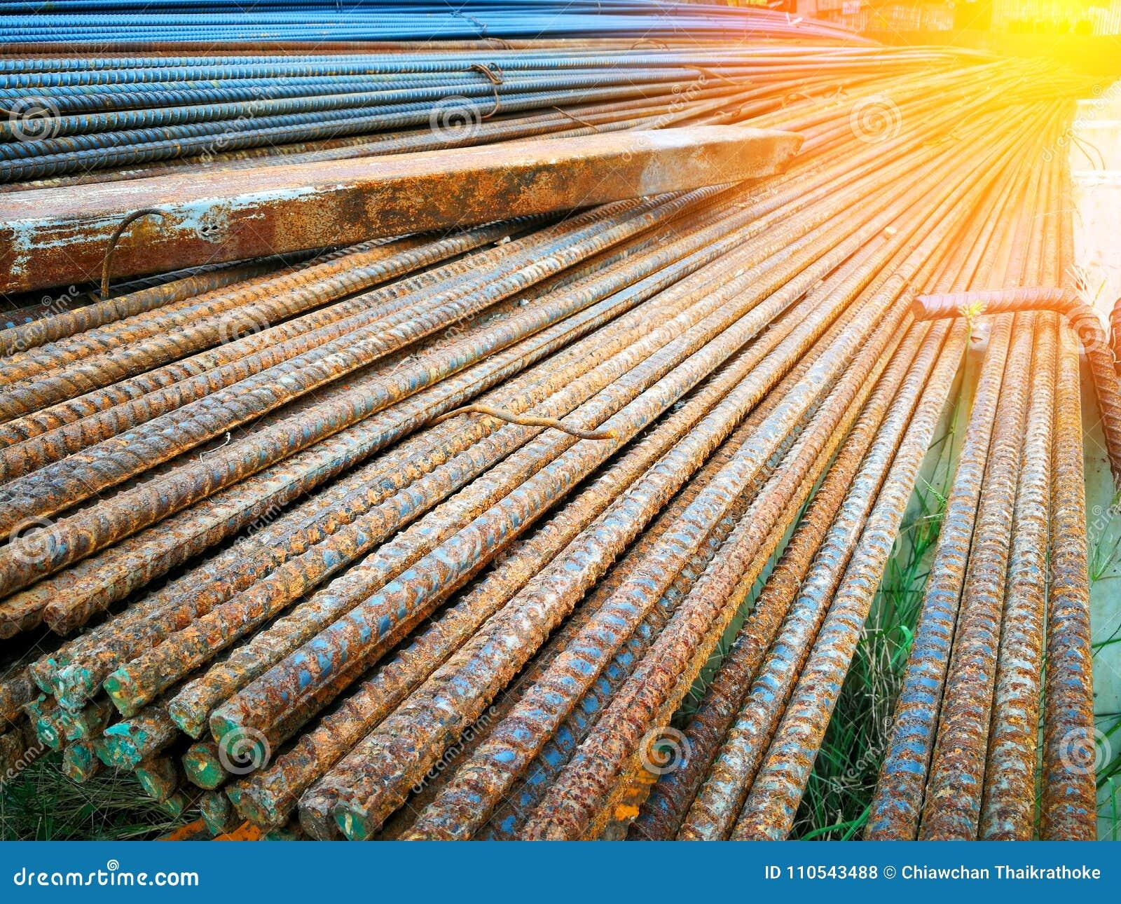 Stalowi rebars dla budowy są zrudziali
