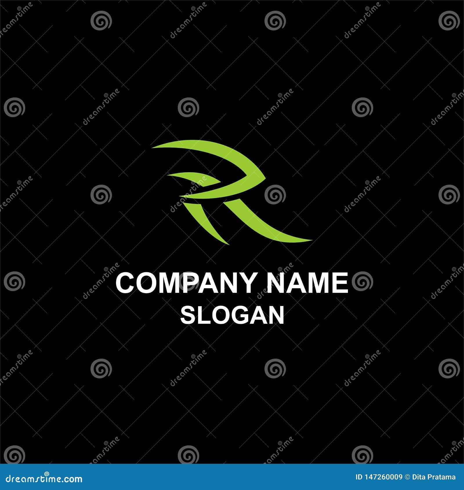 Stam- logo för r-bokstavsinitial