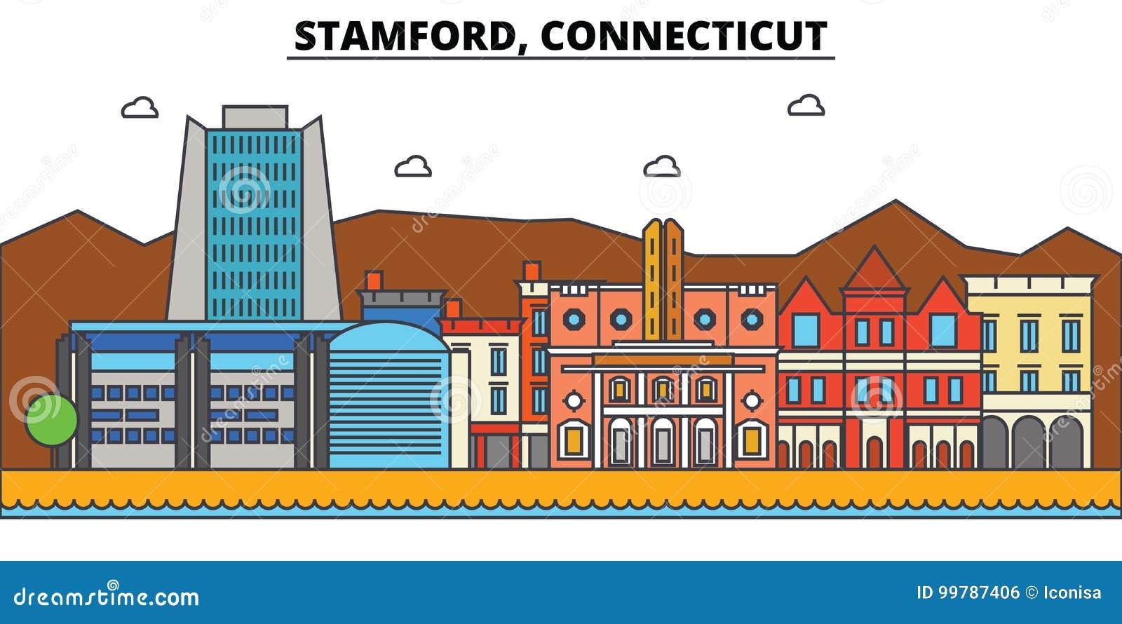 Stamford, Connecticut De architectuur van de stadshorizon