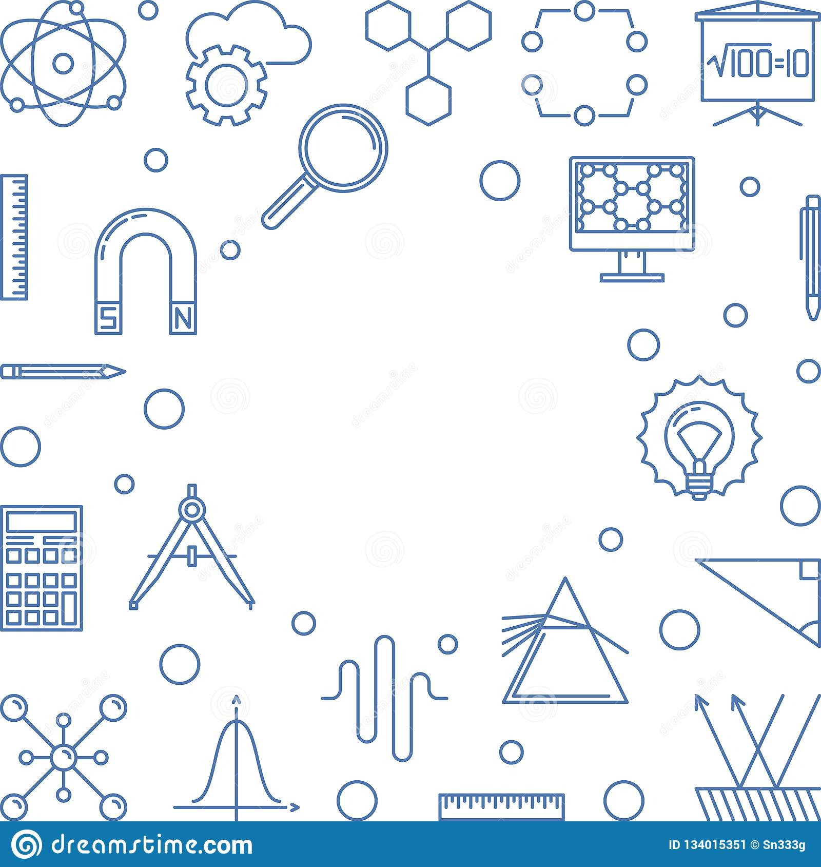 STAMM-Rahmen mit weißem Hintergrund Vektorbildungsillustration