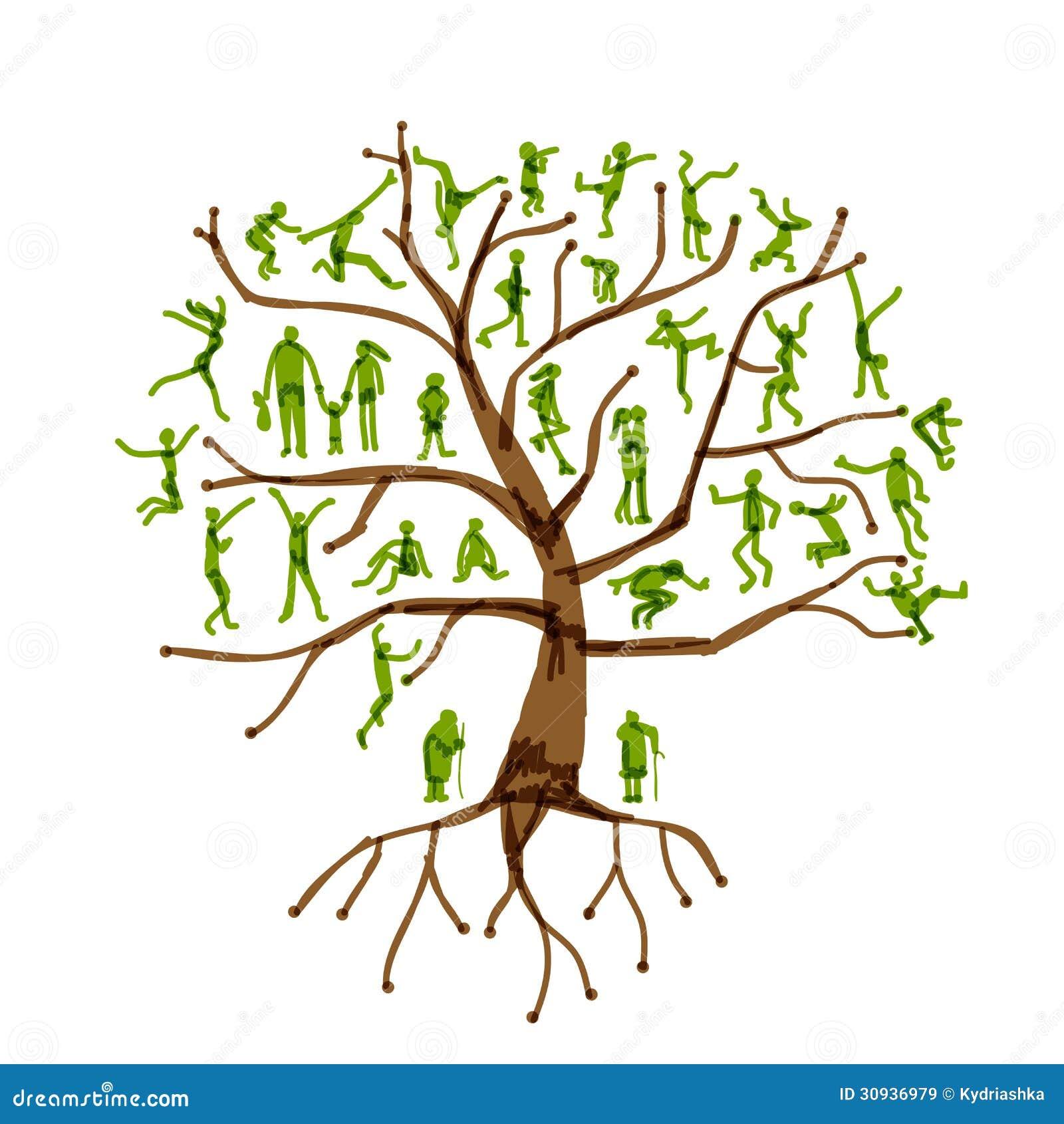 Stammbaum, Verwandte, Leuteschattenbilder Lizenzfreie ...