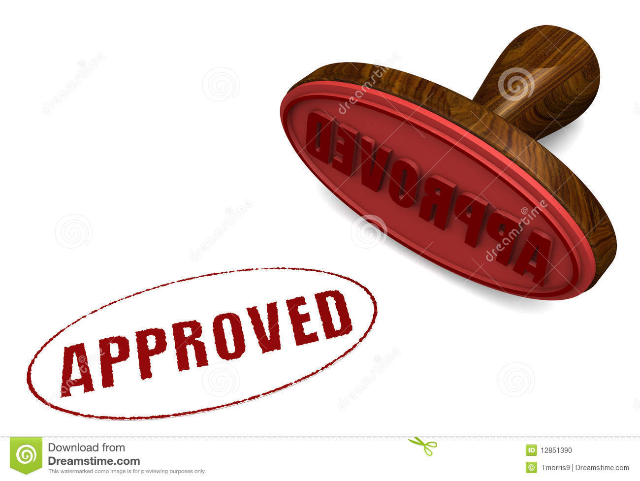 Stamp Of Approval Stock Photo