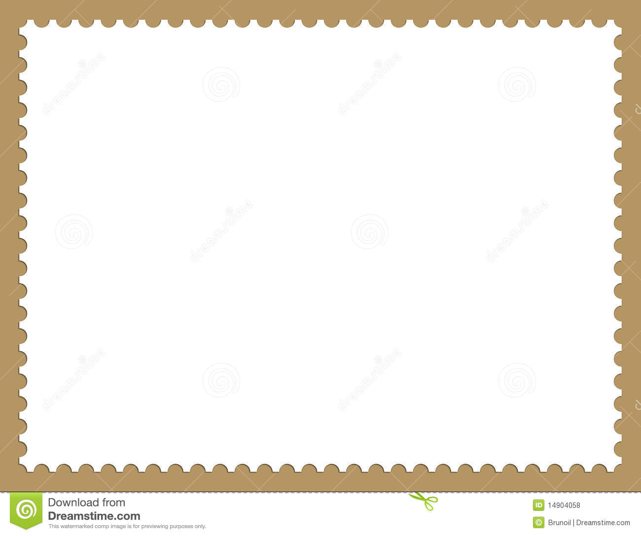 Stamp Border Stock Illustration Of Postage