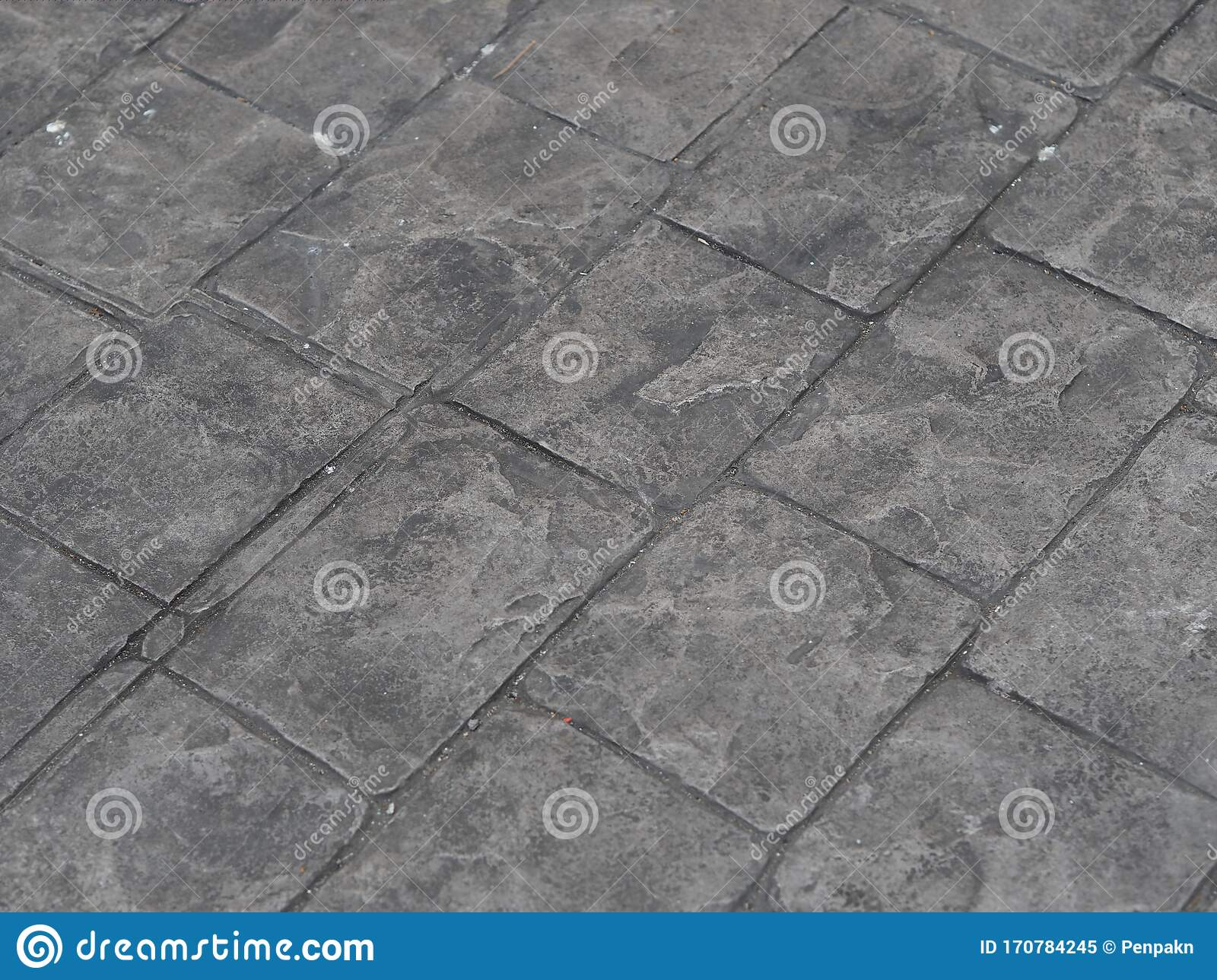 Stamp Concrete Black Color Hardener Printing Patterns On The Cement Or Mortar Surface Square Pattern Material Rough Texture Stock Image Image Of Design Finished 170784245