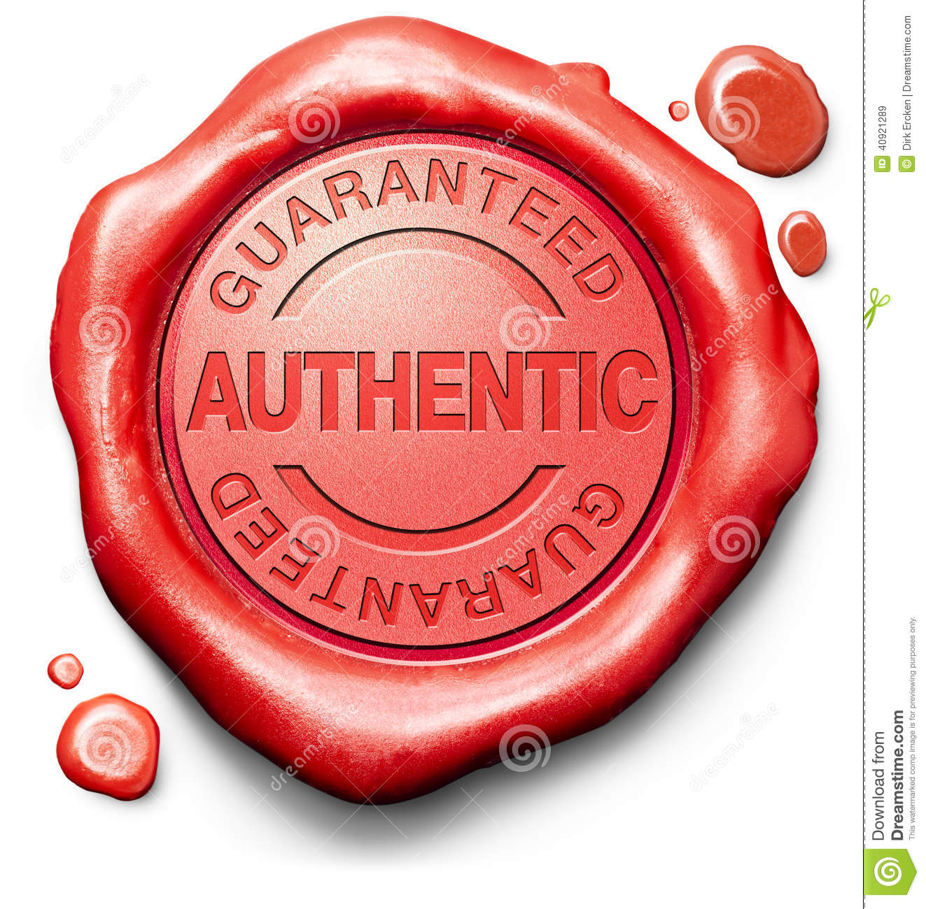 stamp guaranteed authentic quality product stock image