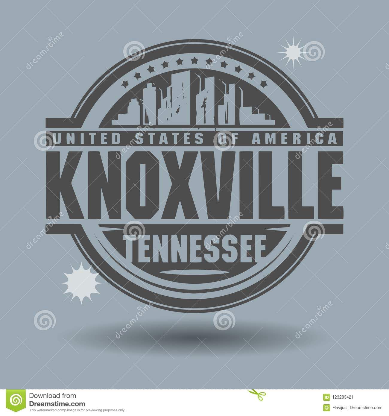 Stamp Or Label With Text Knoxville, Tennessee Inside Stock Vector