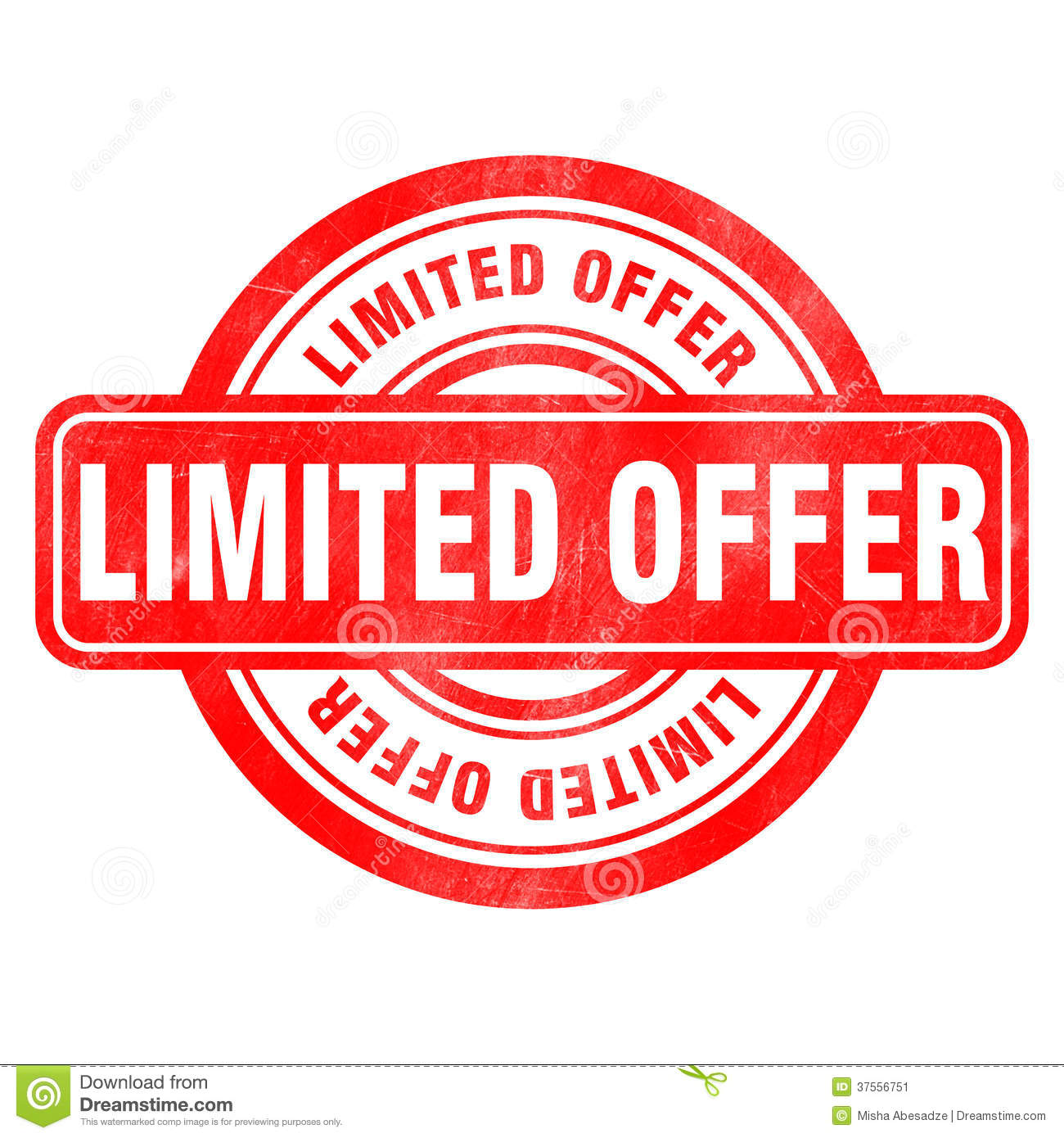 Stamp of Limited offer
