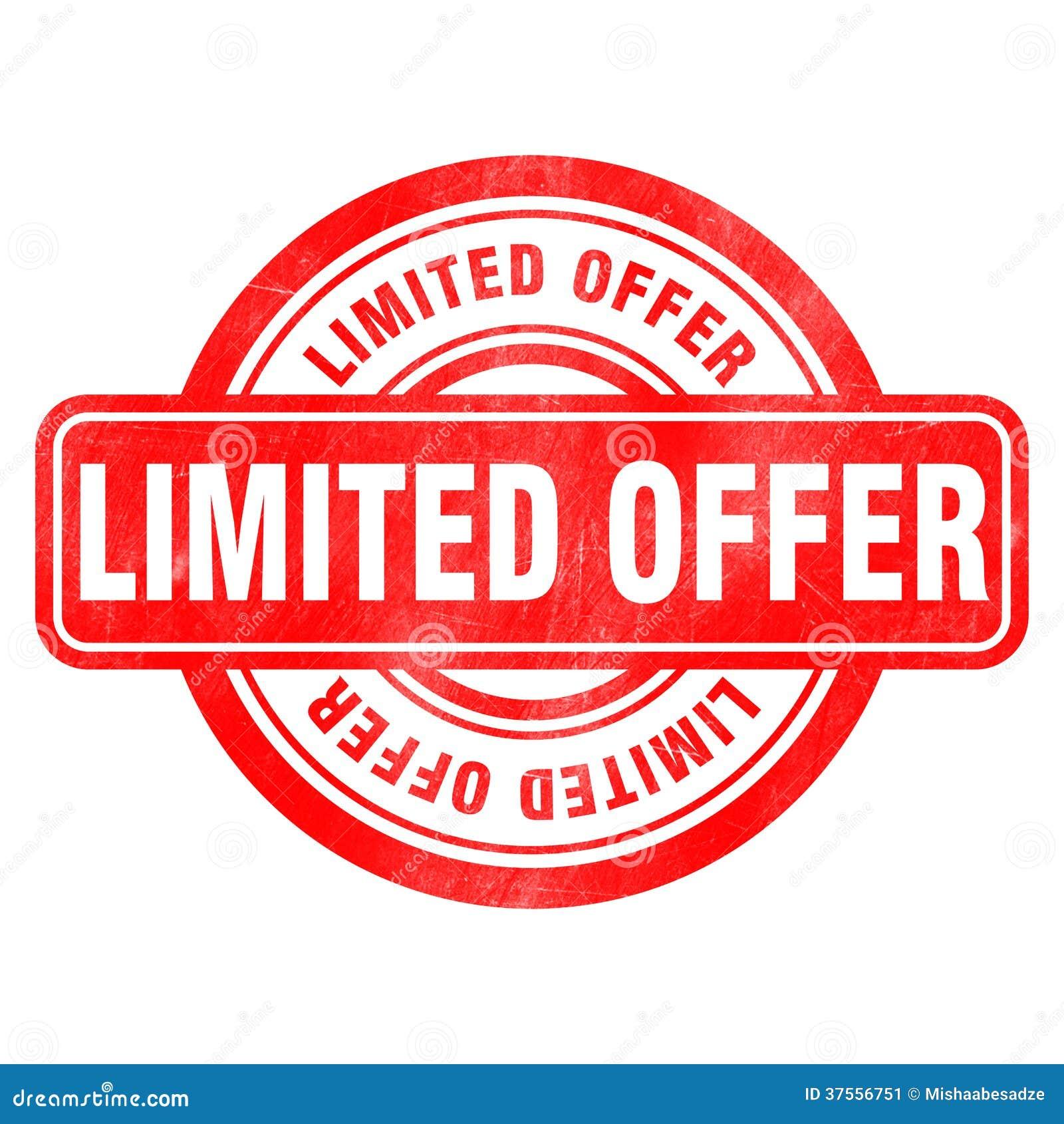 stamp of limited offer stock illustration illustration of