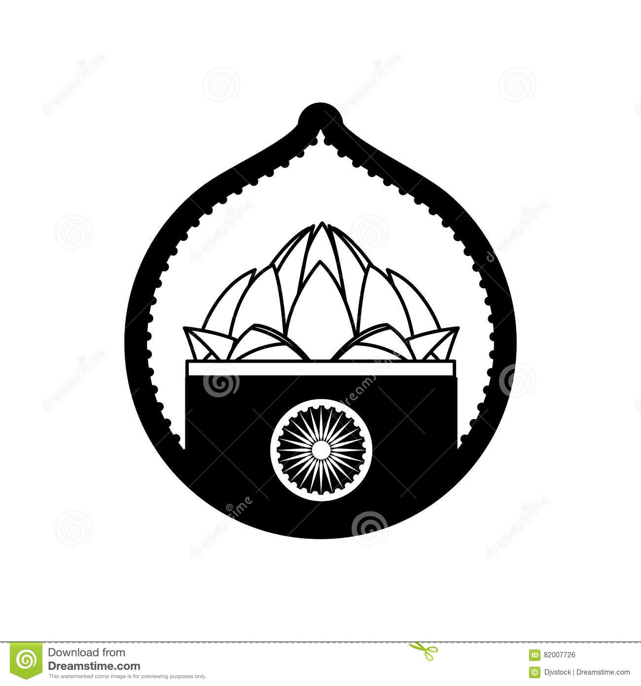 Stamp lotus flower indian culture stock vector illustration of stamp lotus flower indian culture mightylinksfo