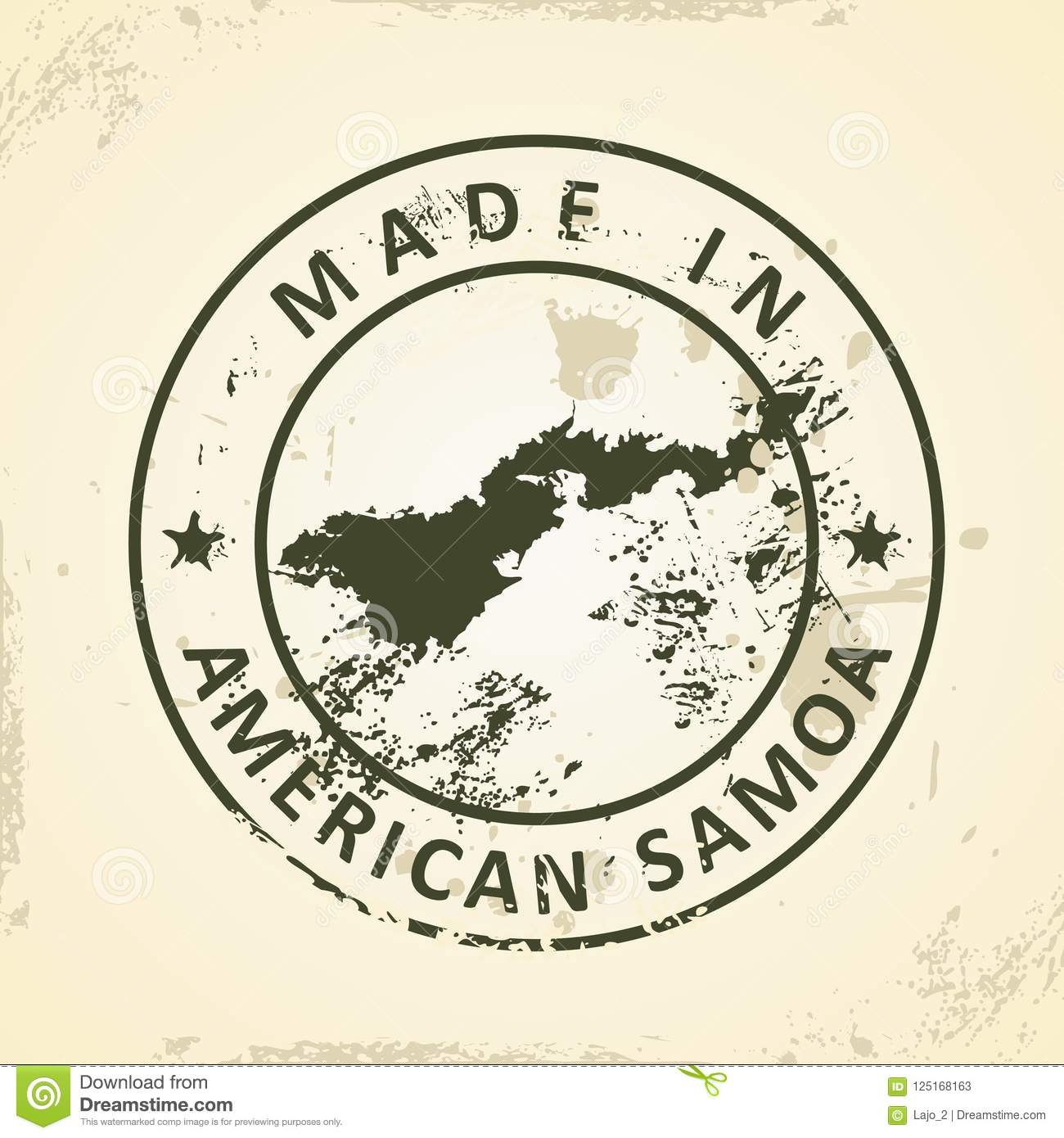 Stamp With Map Of American Samoa Stock Vector - Illustration ... on