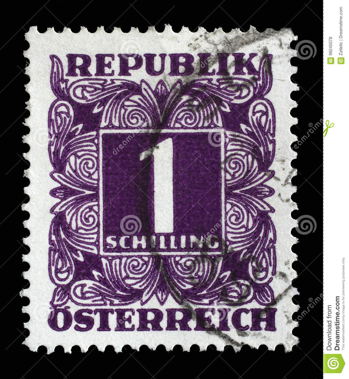 Stamp Printed In Austria, Shows The Numbers, Face Value Stamps