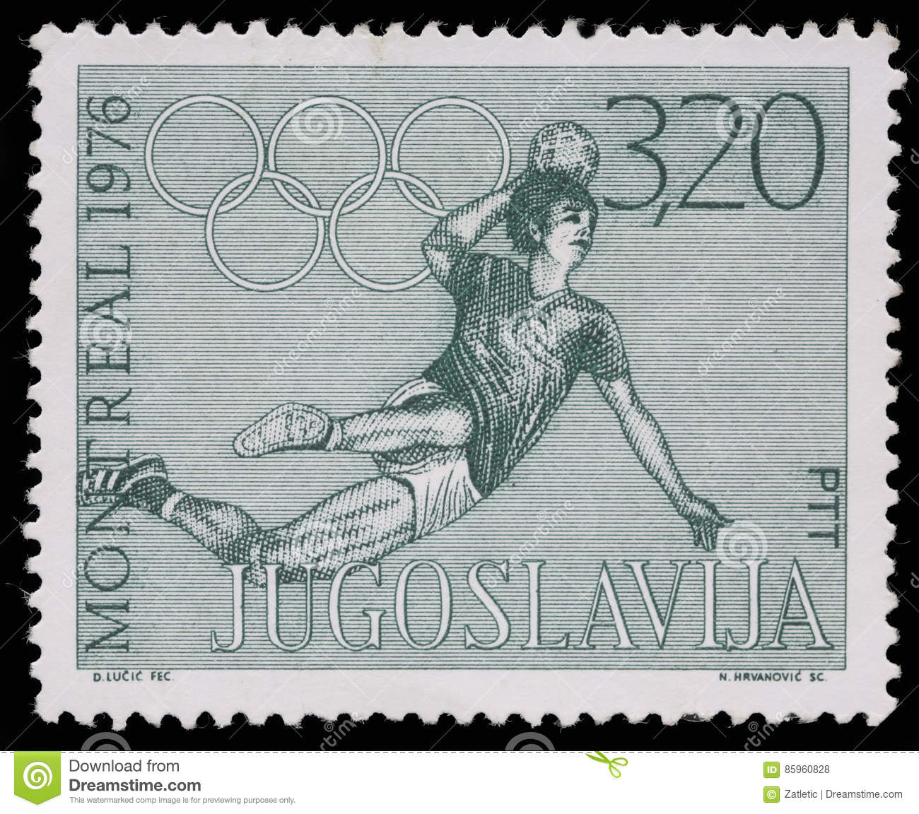Stamp printed in Yugoslavia shows Olympic games in Montreal